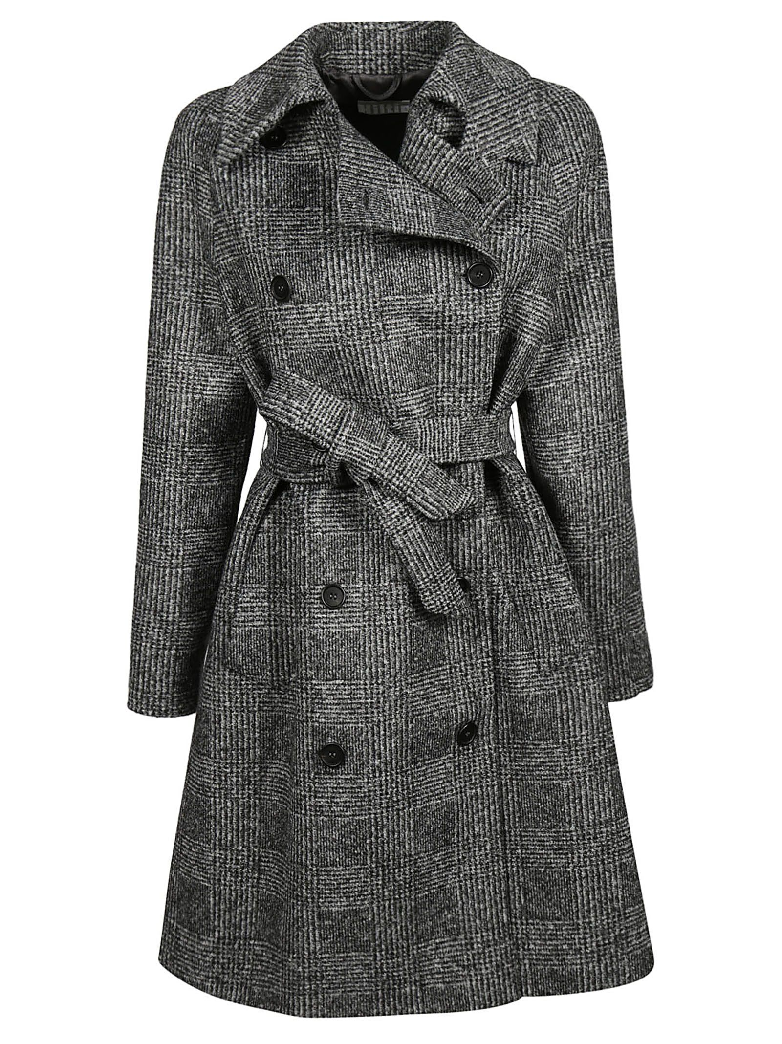 KILTIE & CO. Double Breasted Coat in Nero Grigio