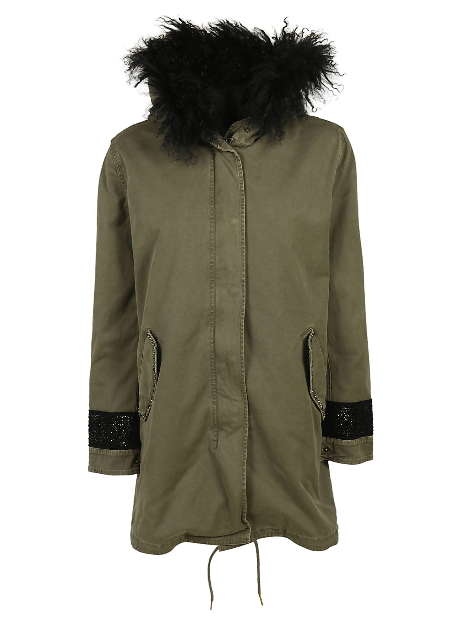 MASON'S Embroidered Coat in Verde