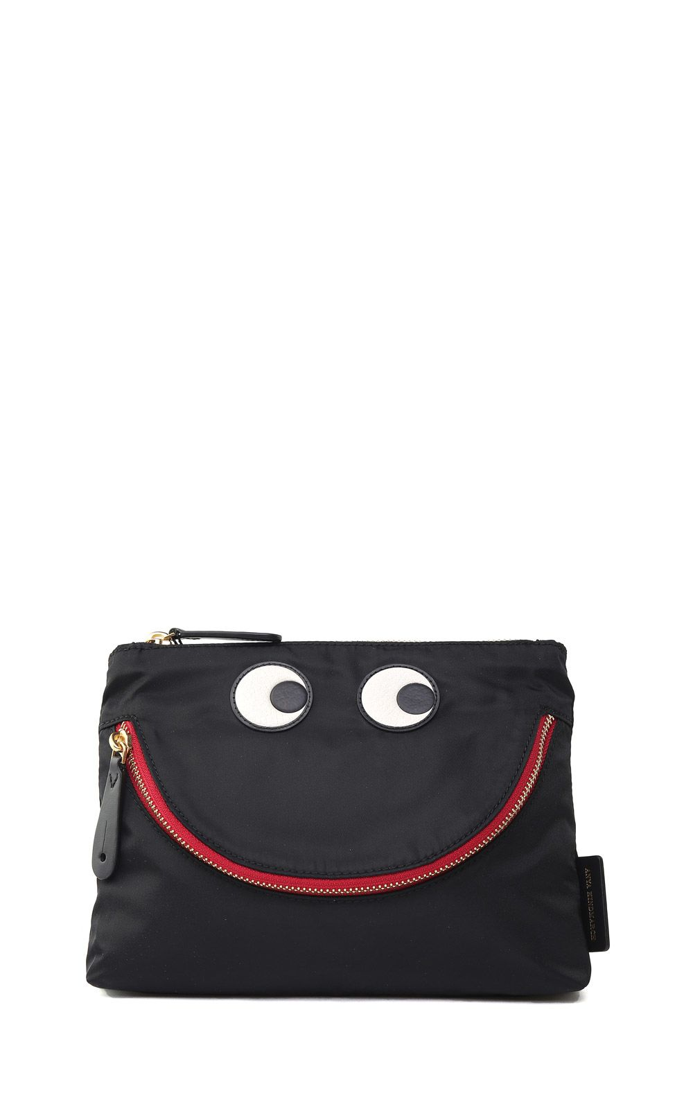 HAPPY EYES NYLON AND LEATHER POUCH