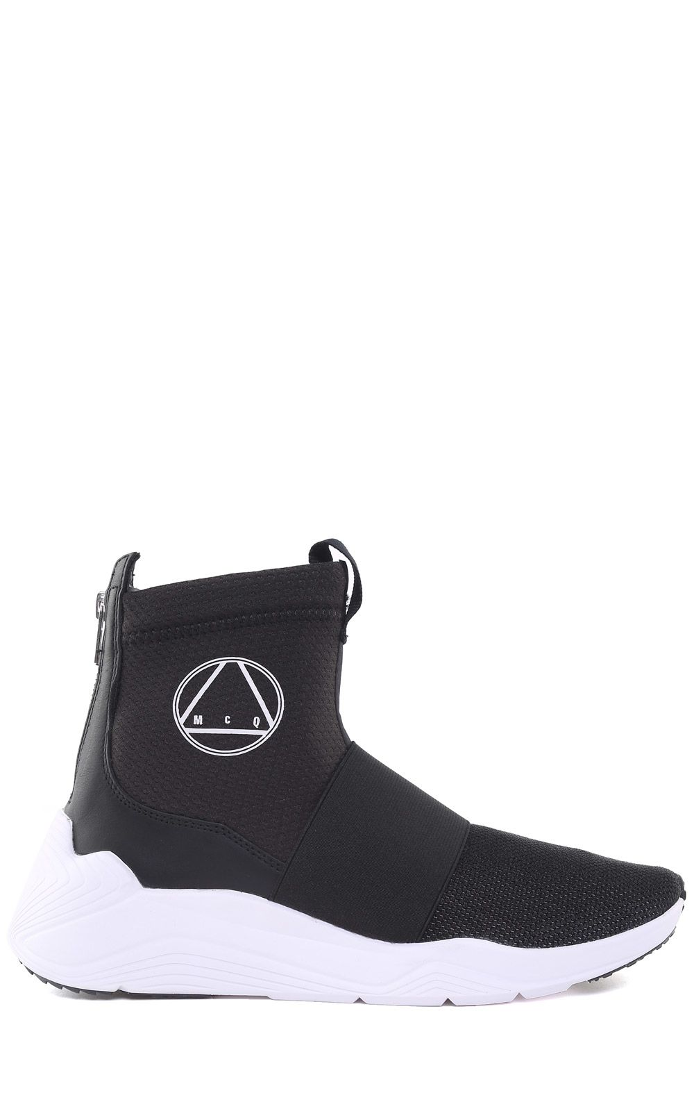 Mcq By Alexander Mcqueen HIGH SOCK HIKARU NEOPRENE AND STRETCH-KNIT SNEAKERS