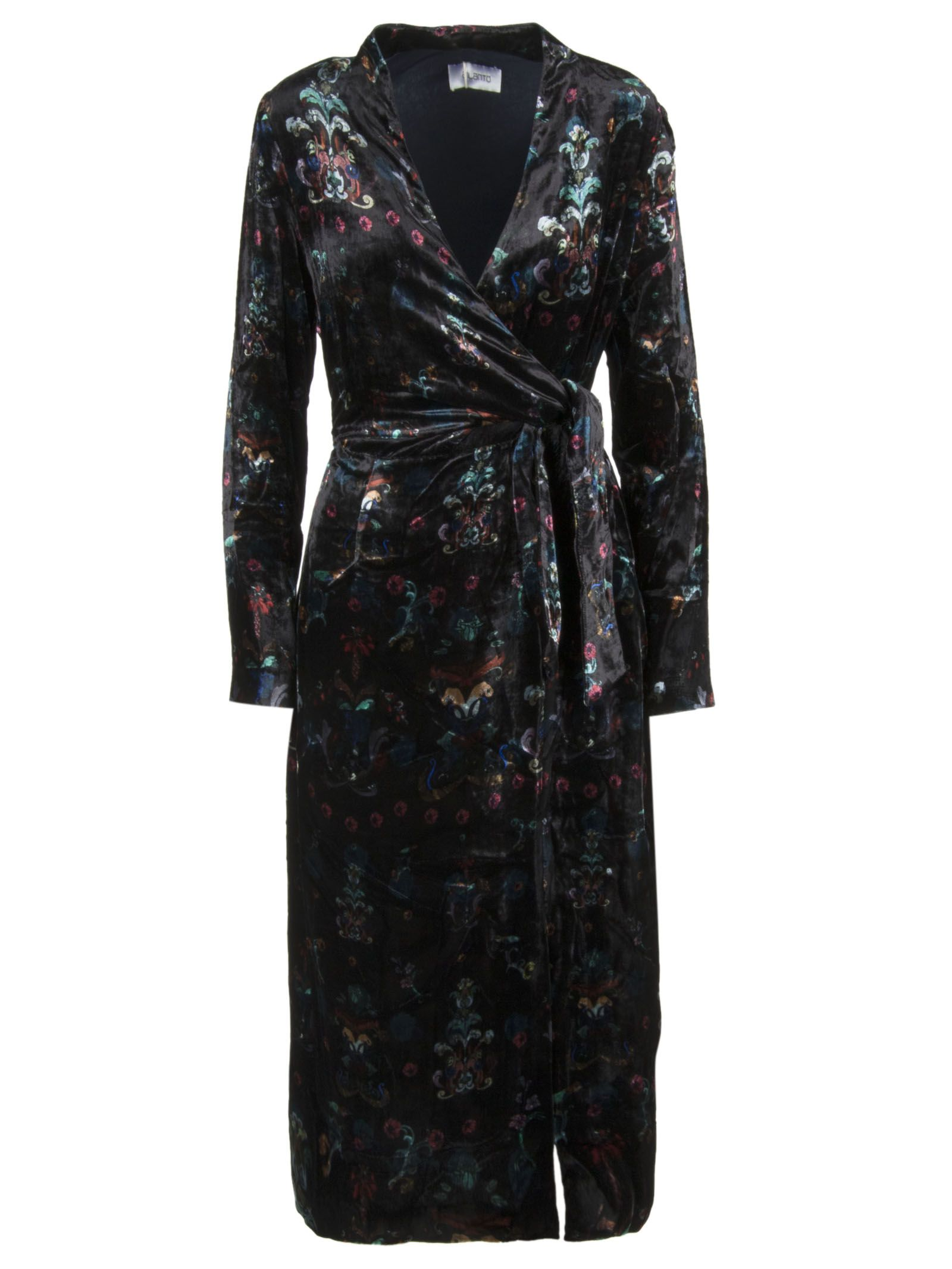 AILANTO Floral Dress in Black