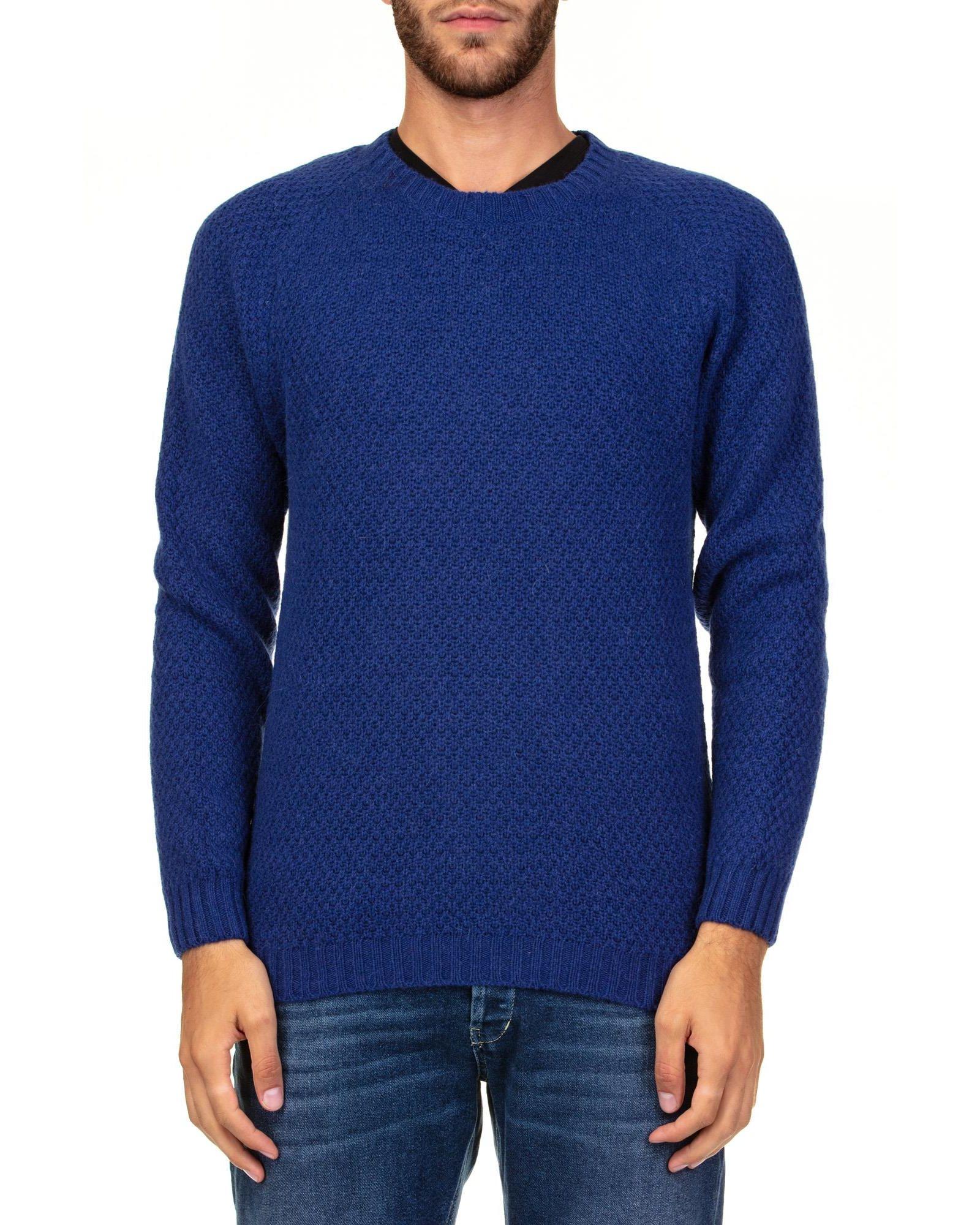 DANIELE FIESOLI Baby Alpaca And Merino Wool Sweater in Bluet