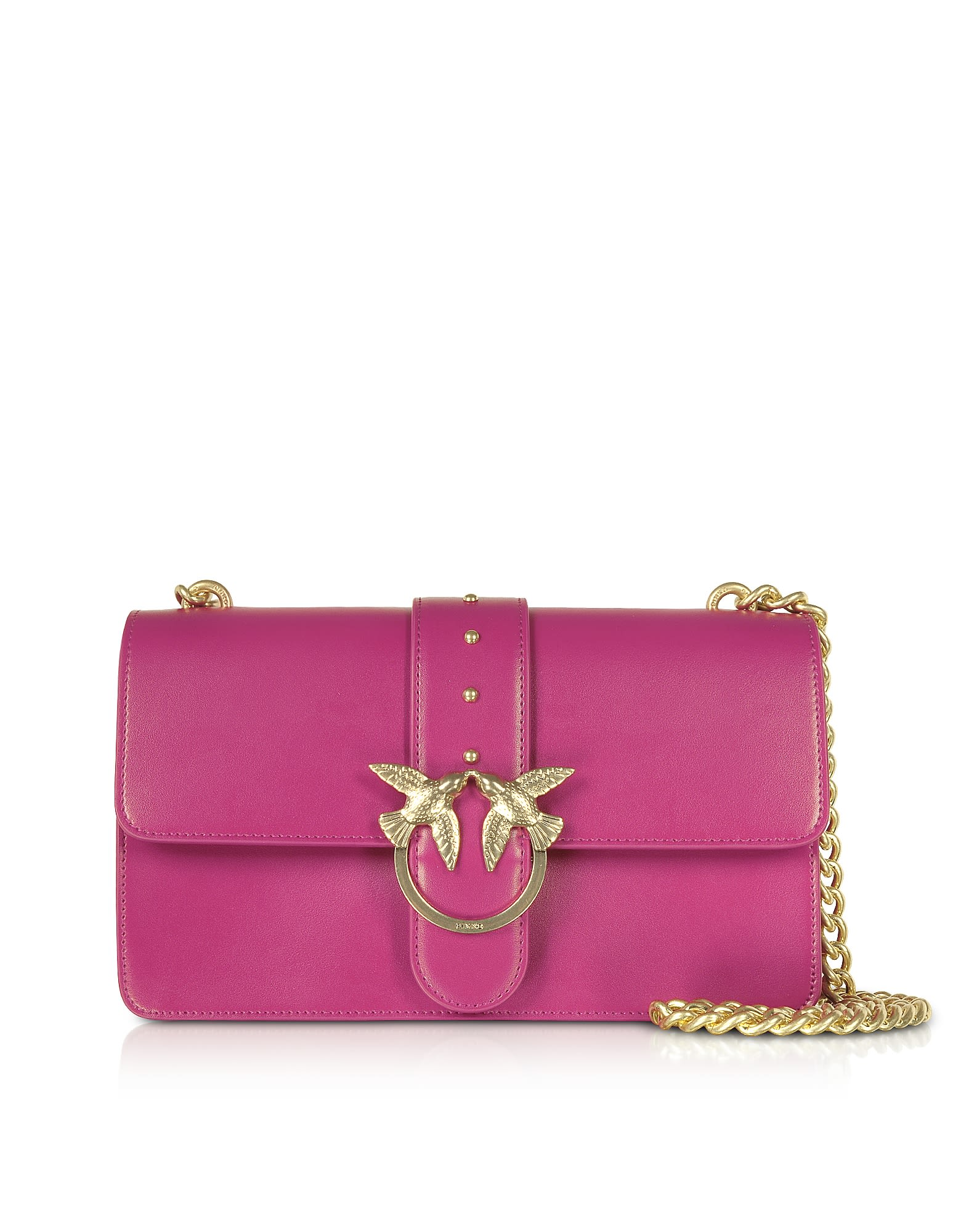 PINKO LOVE SIMPLY 5 LEATHER SHOULDER BAG