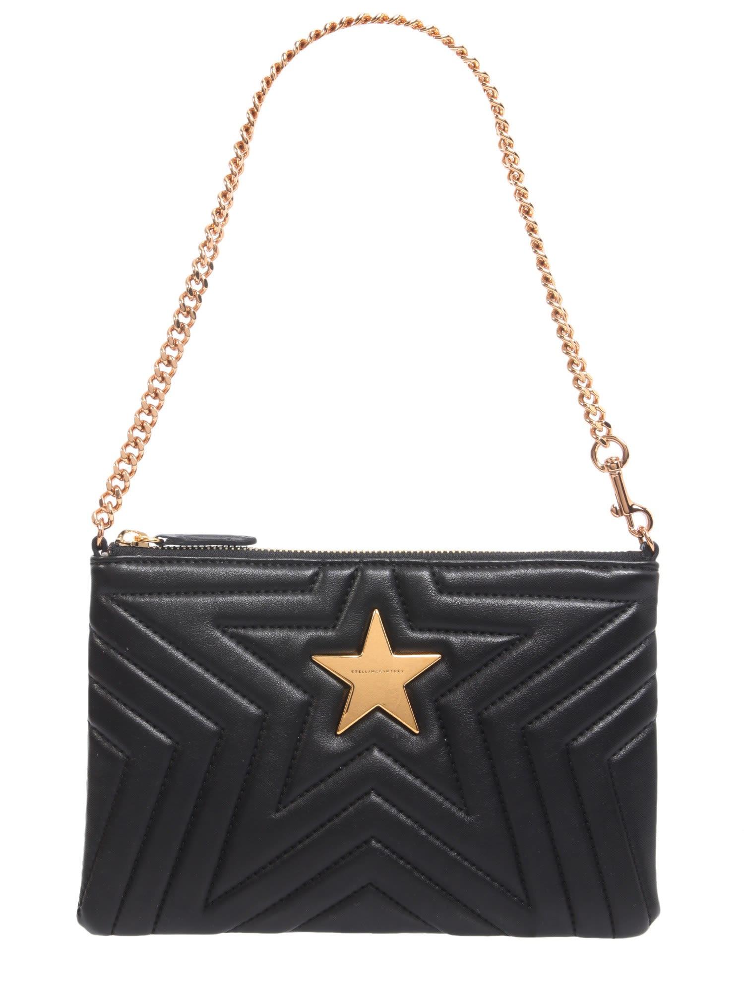 Quited Stella Star Clutch in Black