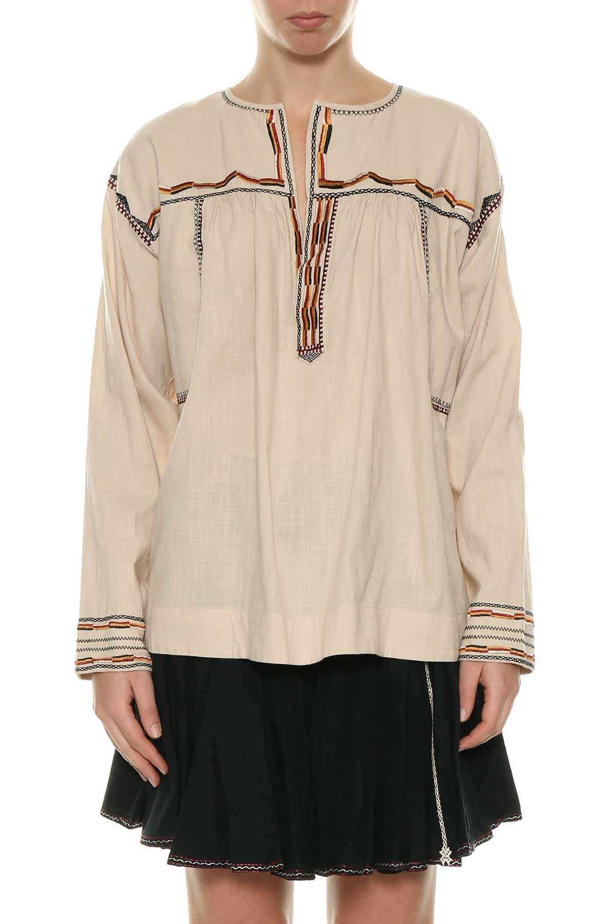 Black Bilcky embroidered blouse Isabel Marant Outlet Top Quality Cheap Visa Payment Authentic Sale Online Good Selling For Sale Cheap Big Sale CNmmpWAL