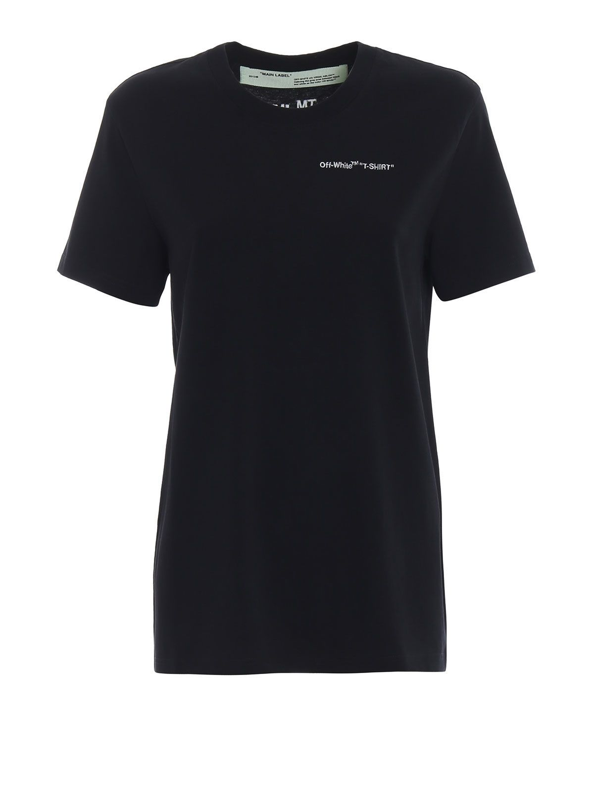 OFF WHITE LOGO EMBROIDERED T-SHIRT