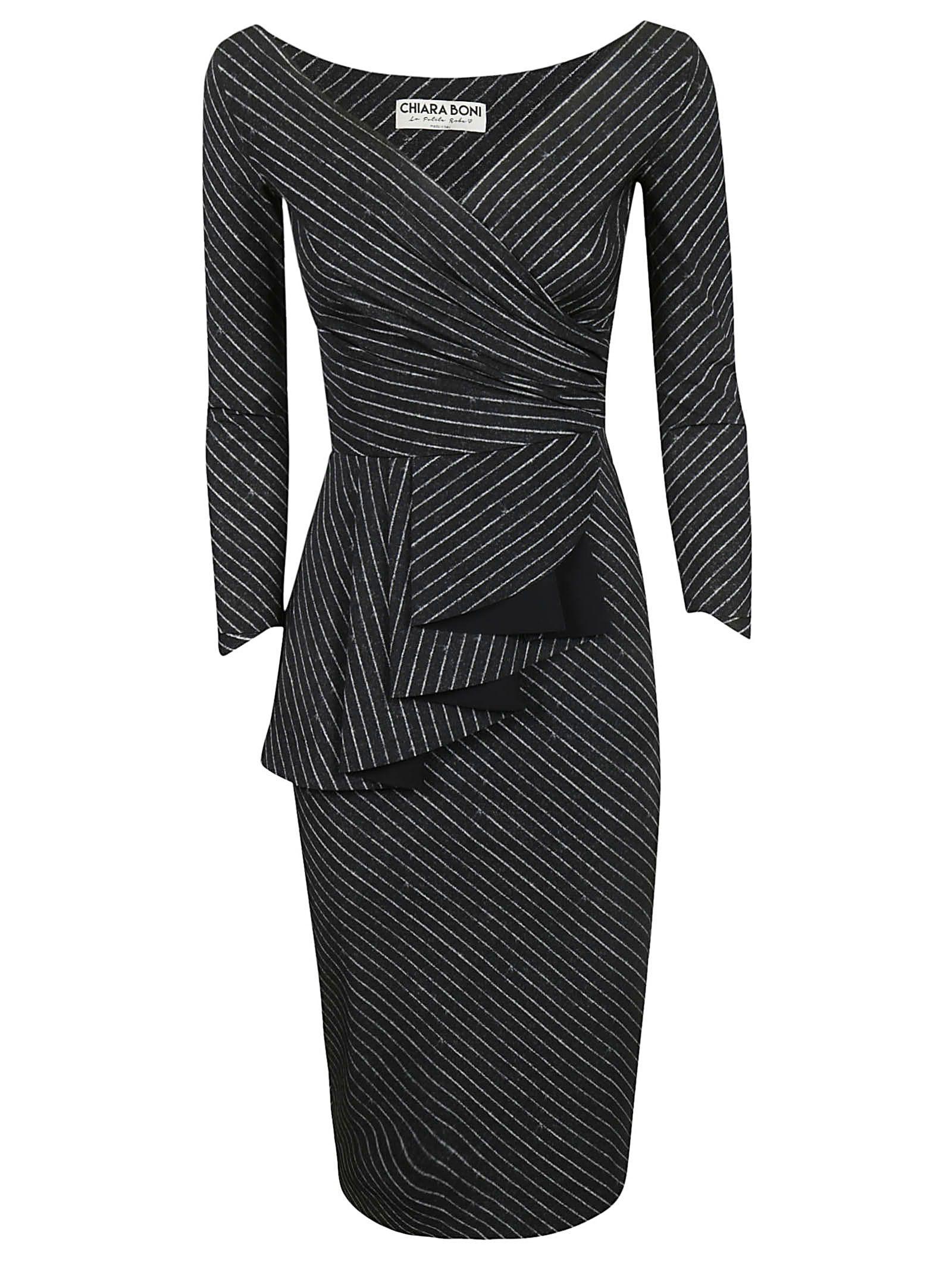 LA PETIT ROBE DI CHIARA BONI Ariane Dress in Black/White