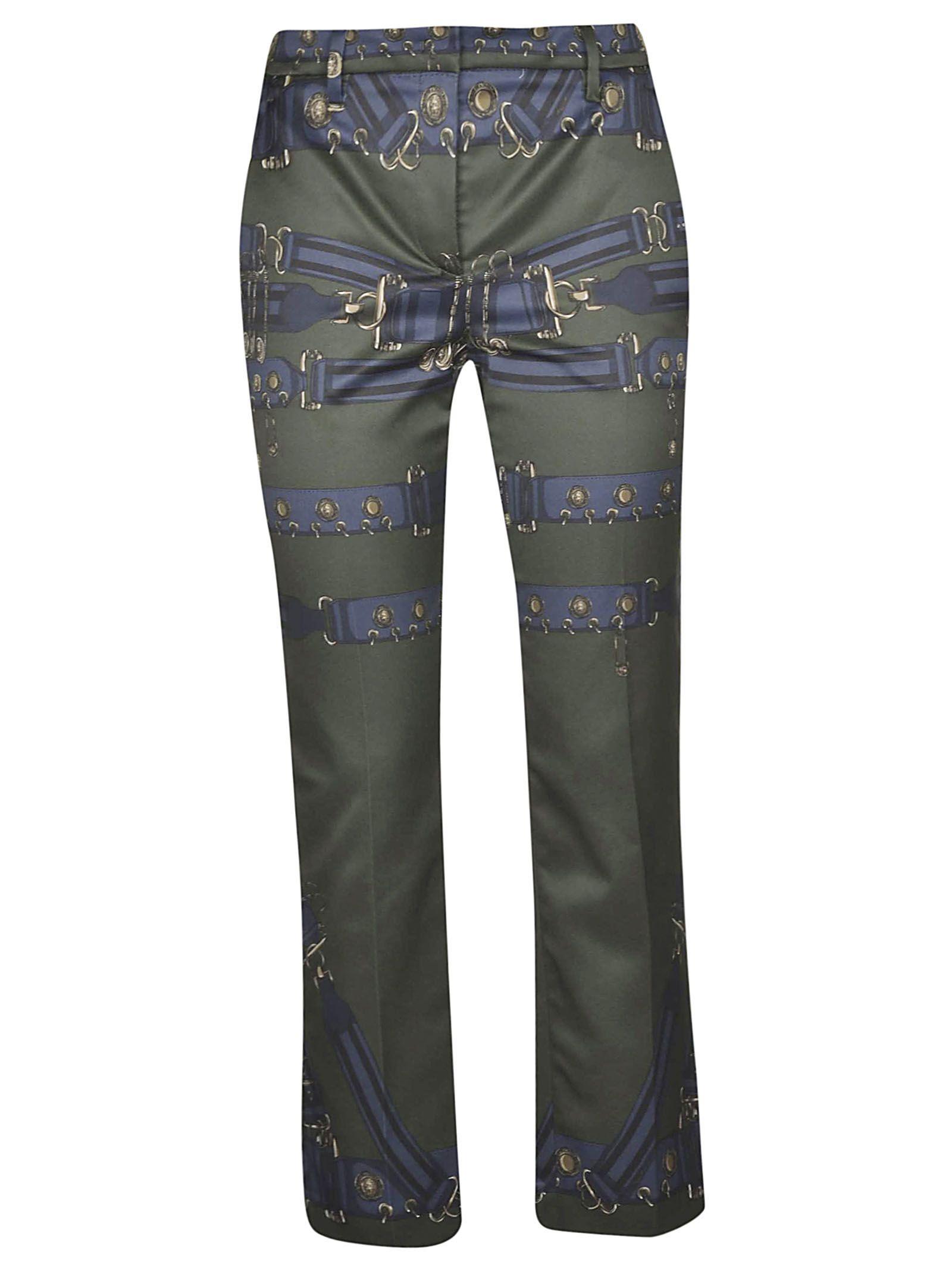 Versus Versace Buckle Print Trousers