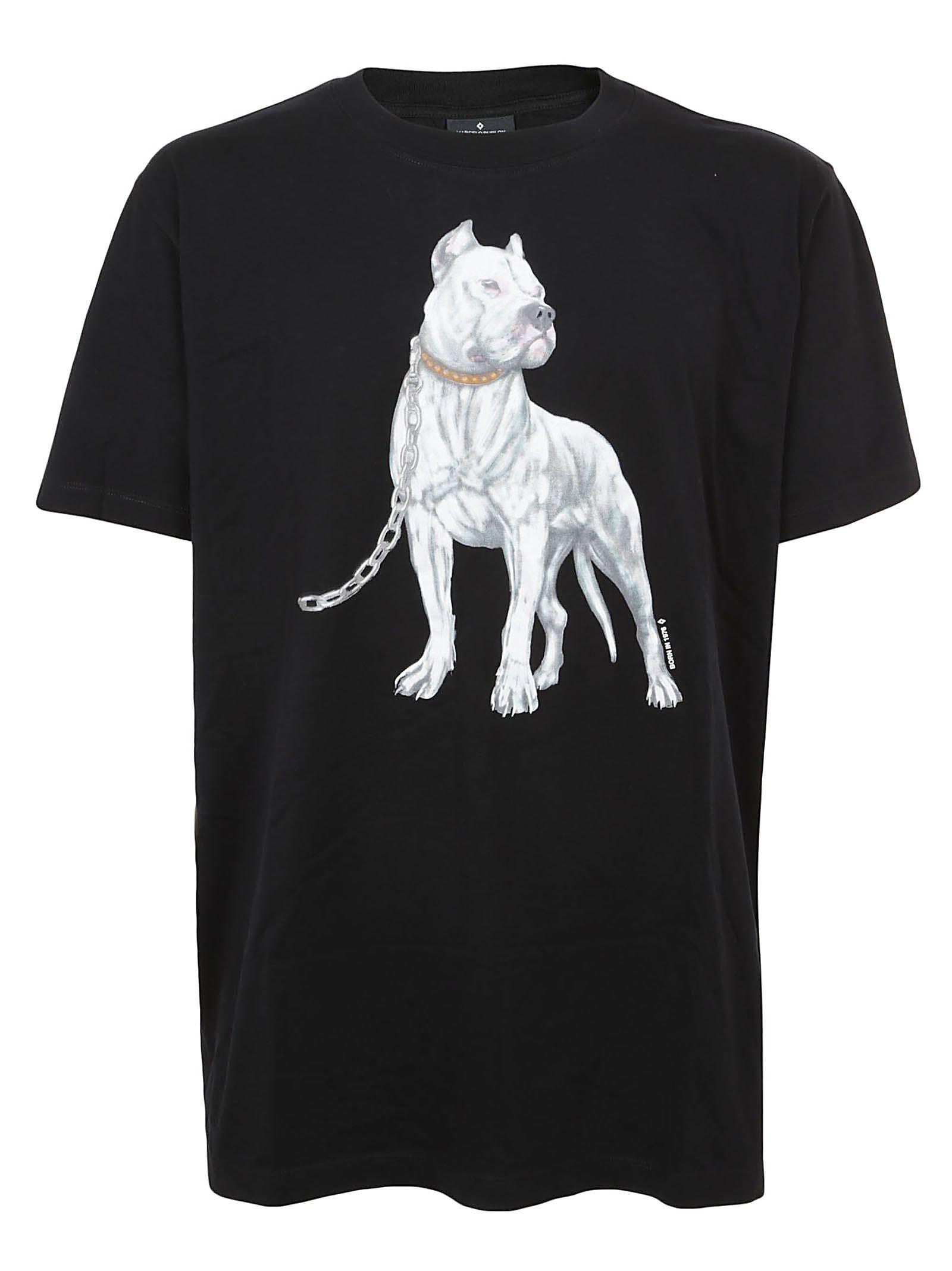 Marcelo Burlon County Of Milan Bulldog Print T-Shirt In Black Multicolor aab4c630921b