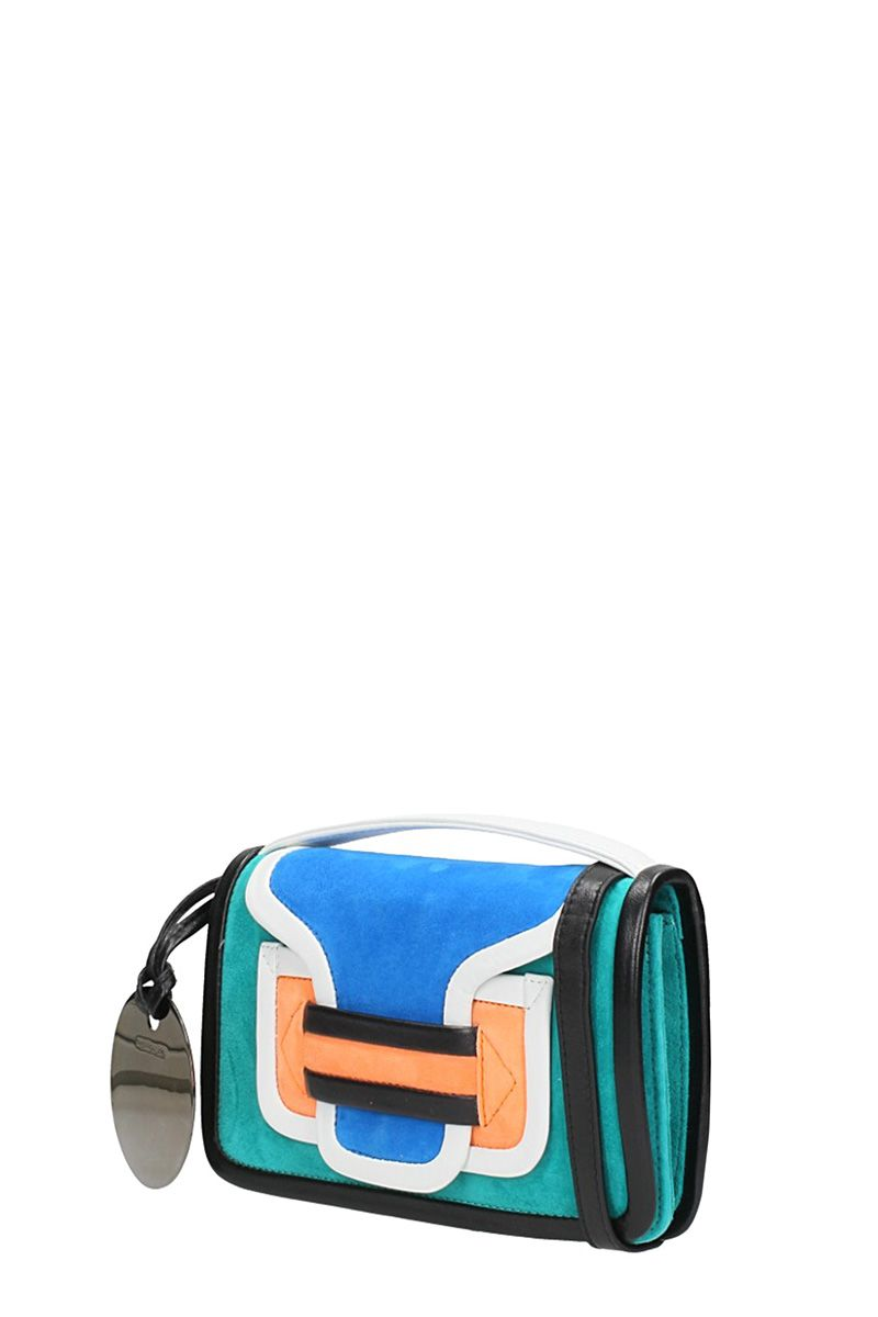 Shoulder Bag for Women On Sale, Turquoise, Suede leather, 2017, one size Pierre Hardy