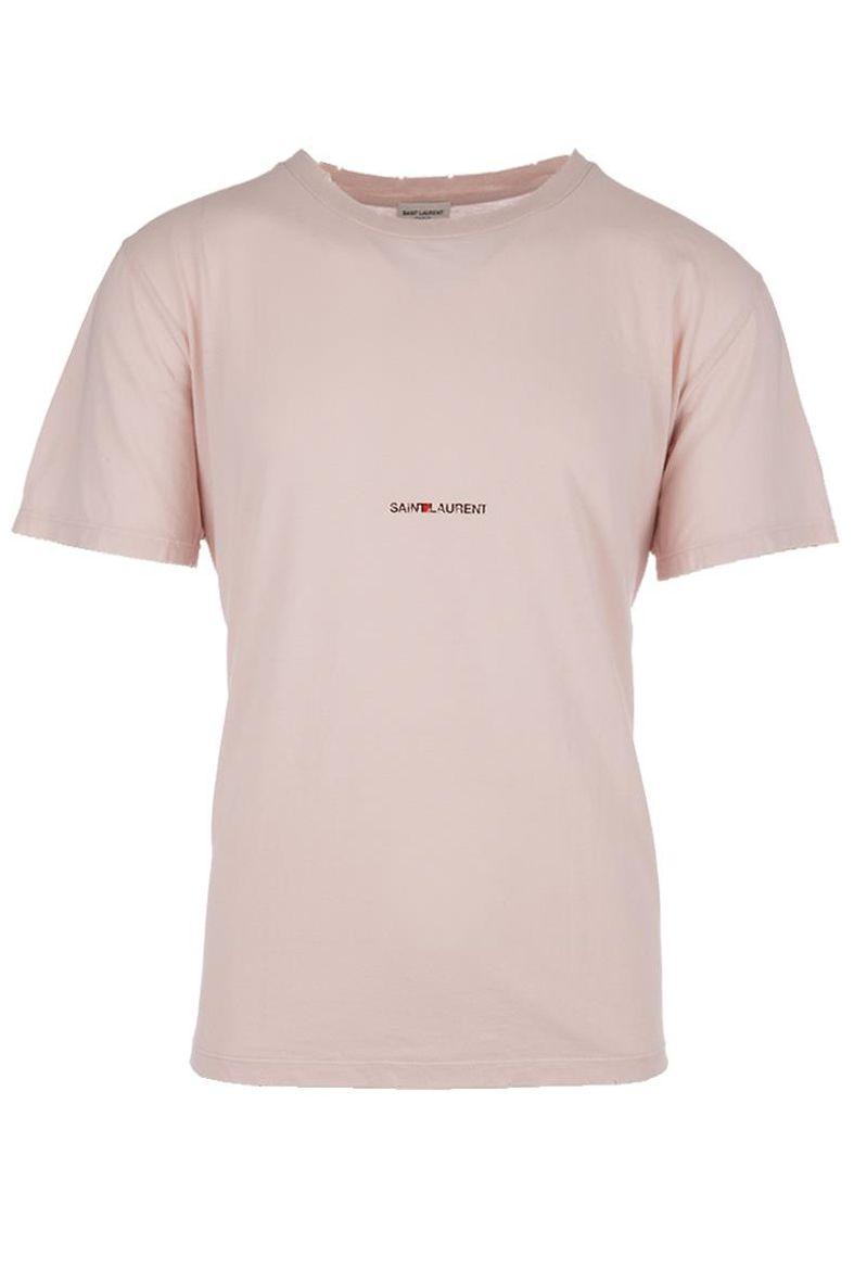 saint laurent saint laurent t shirt rosa men 39 s short. Black Bedroom Furniture Sets. Home Design Ideas