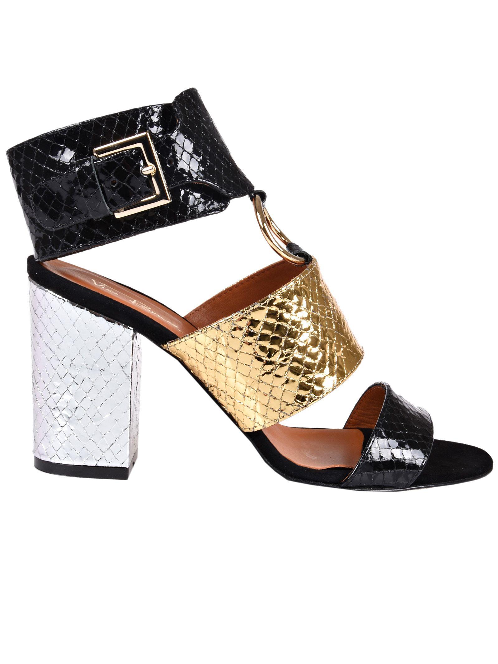 snakeskin-effect ring detail sandals - Black Via Roma 15 Cheap Sale Cheapest Free Shipping Pre Order TK9wEmZ