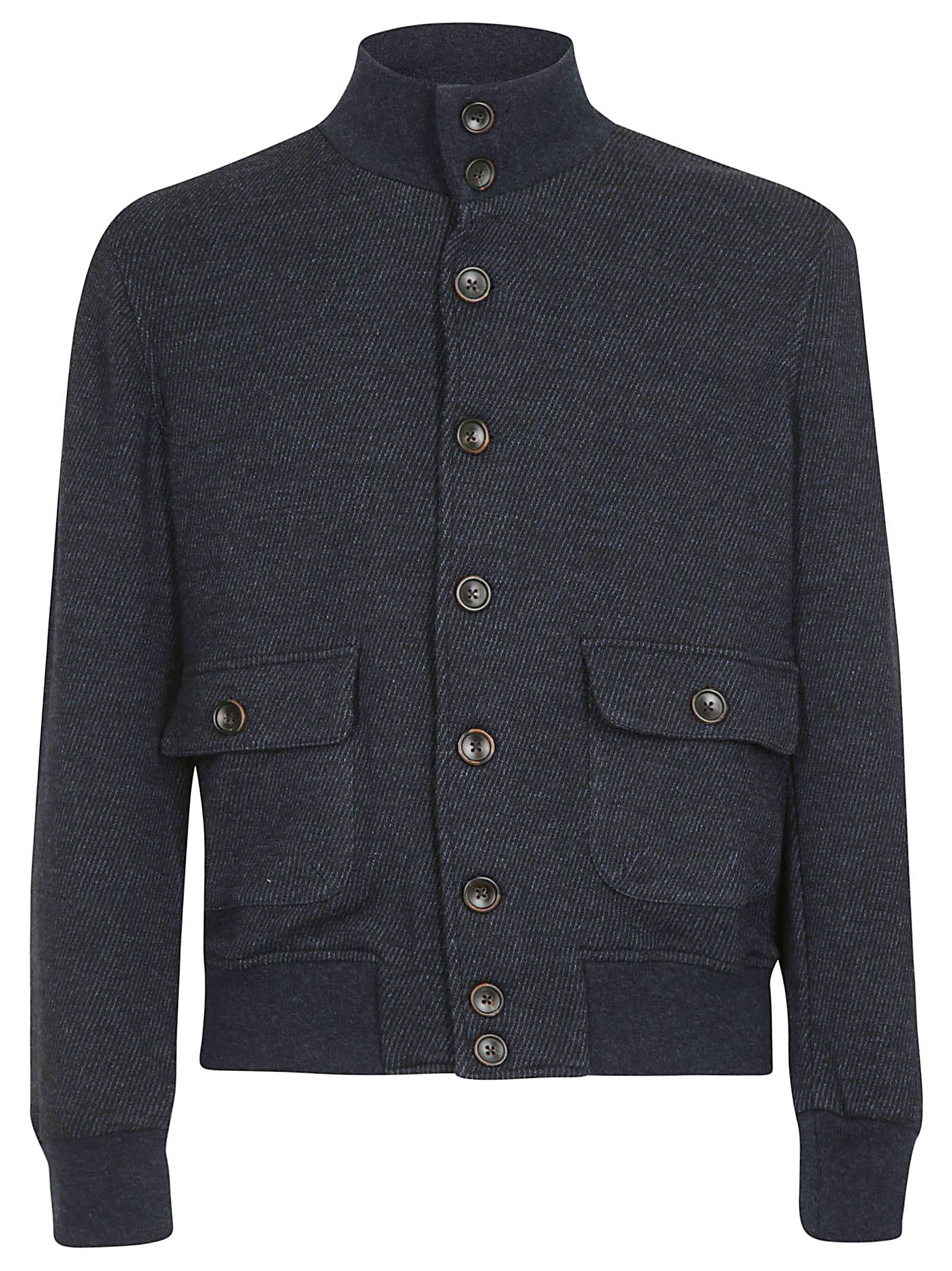 CAPOBIANCO Button-Up Bomber in Blue