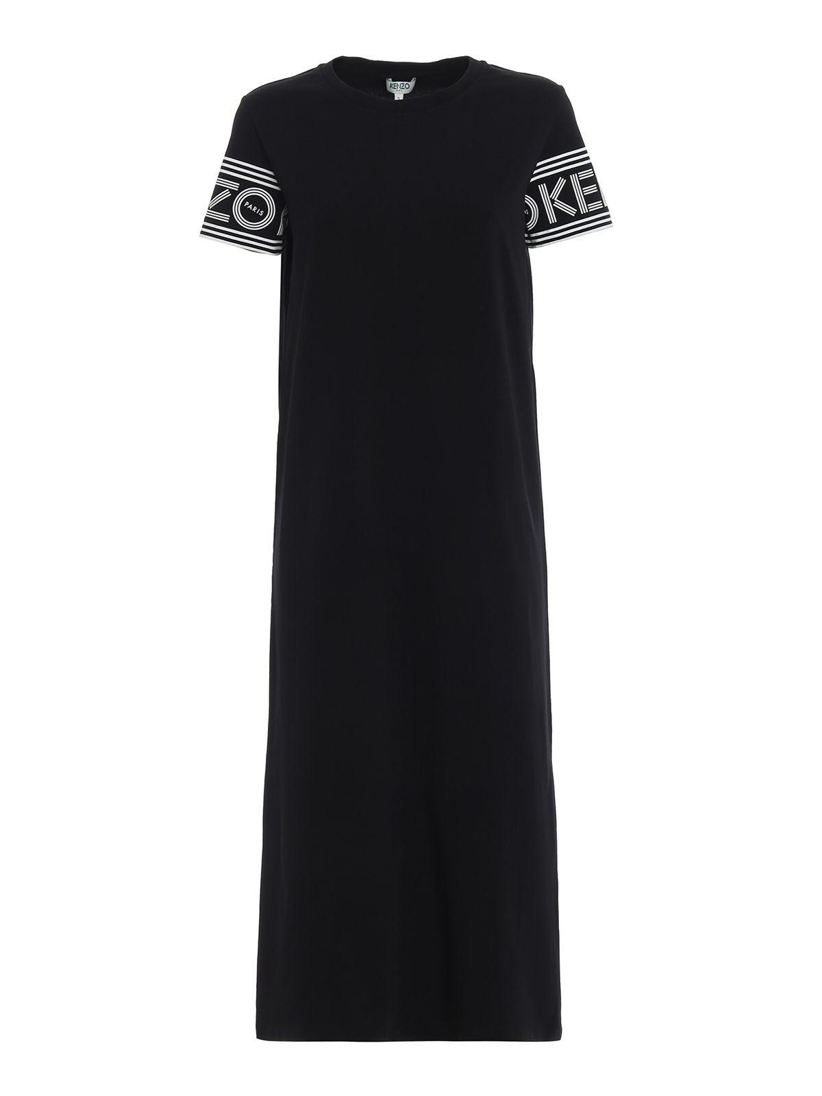 Midi Tshirt Dress, Black