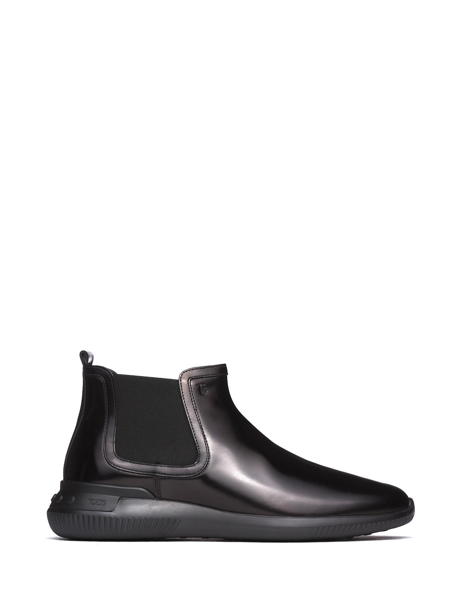 Ankle Boots In Black Smooth Leather B
