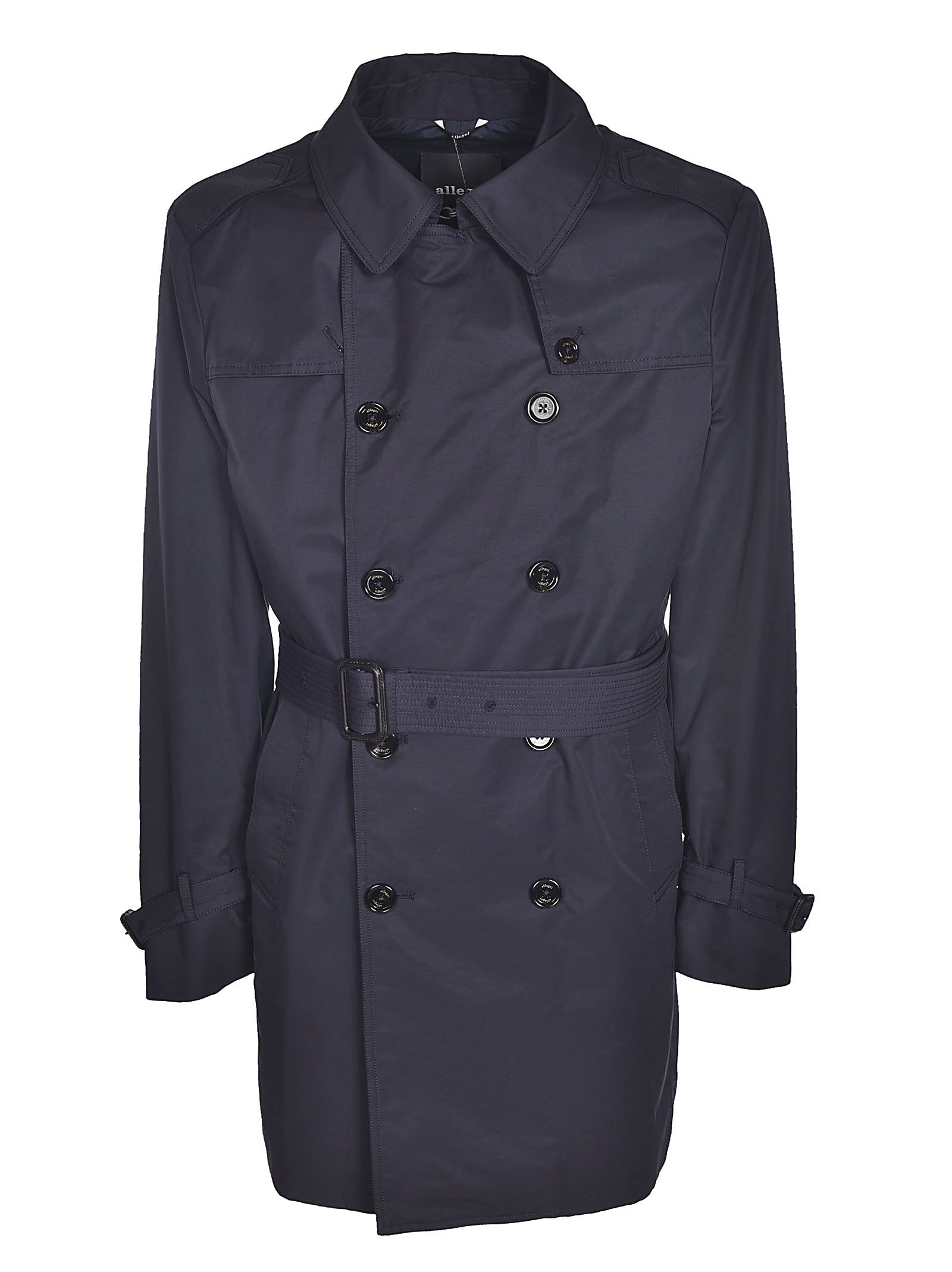 ALLEGRI Buttoned Trench in Blue