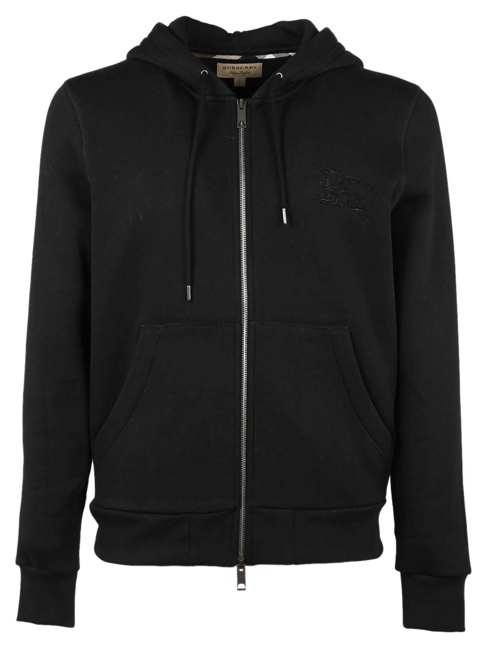 burberry hoodie black