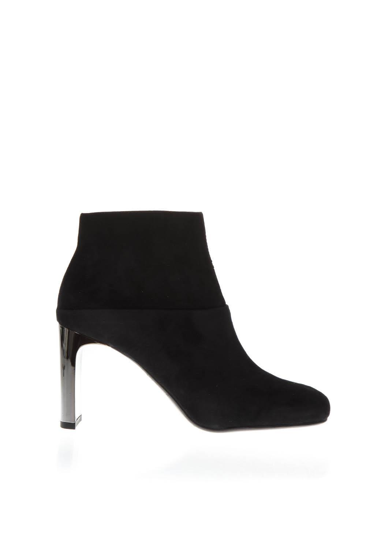 LOLA CRUZ Black Suede Ankle Boots