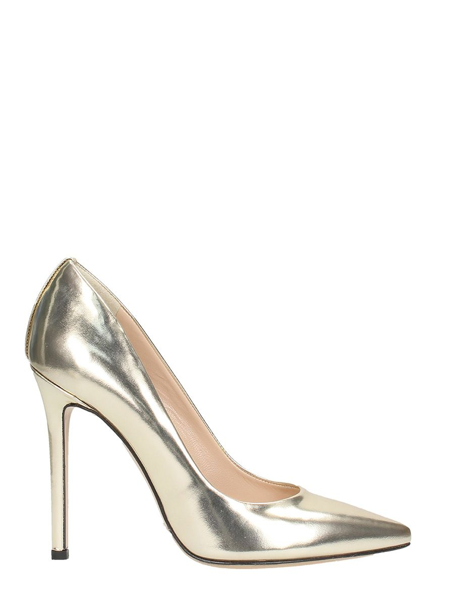 Marc Ellis Metal Platinum Calf Leather Pumps ...