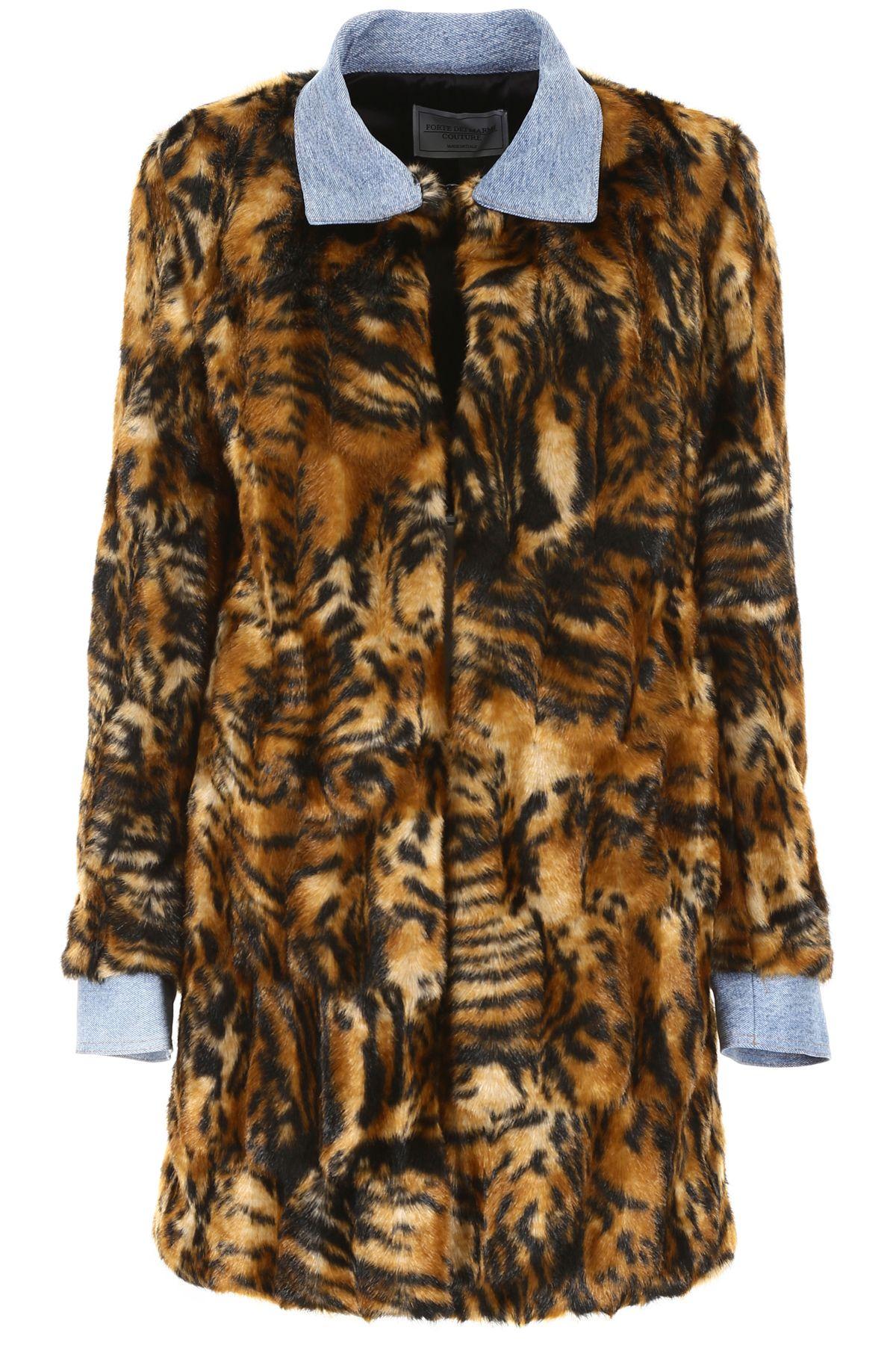 FORTE COUTURE Zita Coat in Multi Denim
