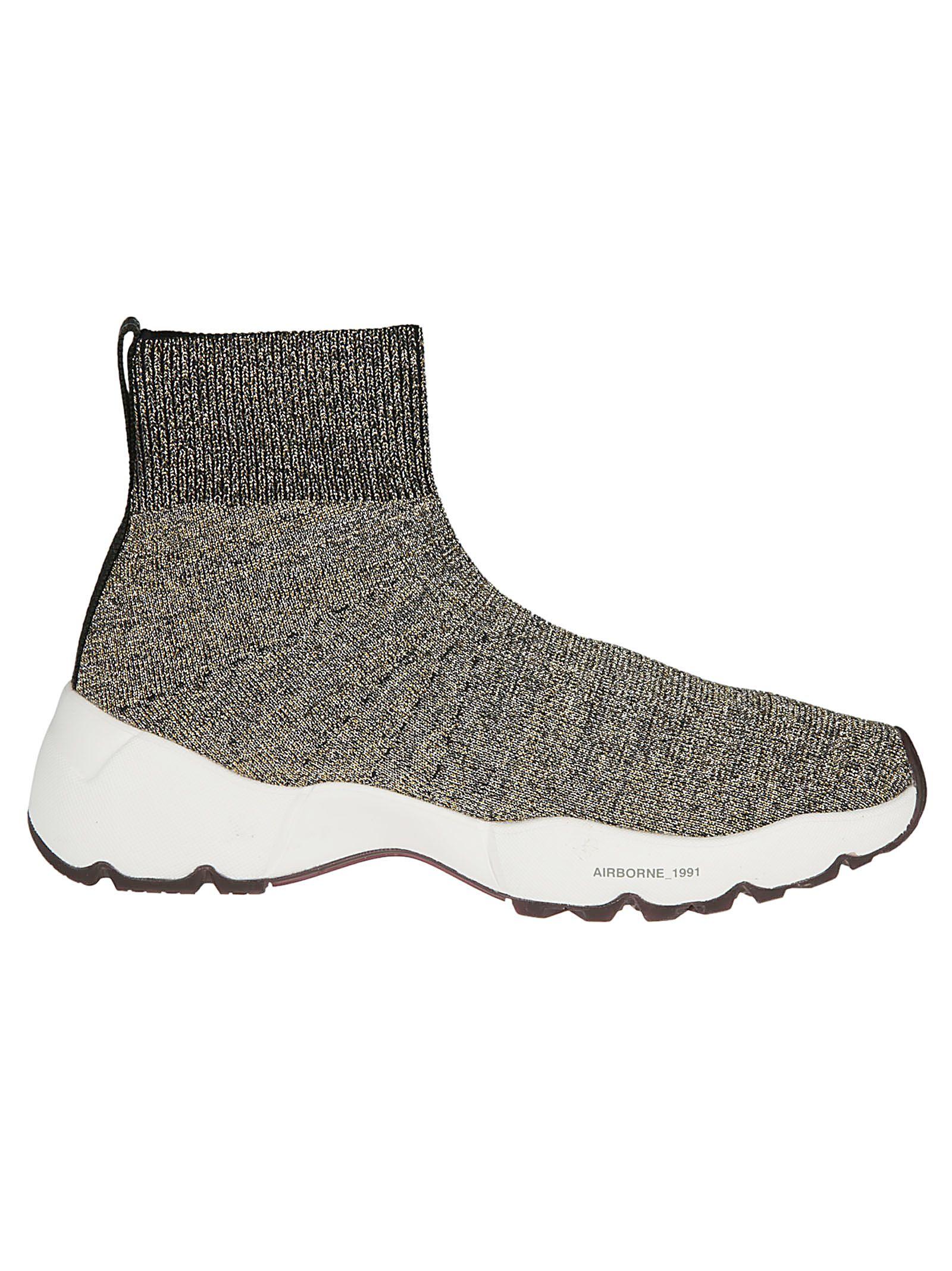 OXS Oxs Airborne Sock Sneakers in Oro/Nero