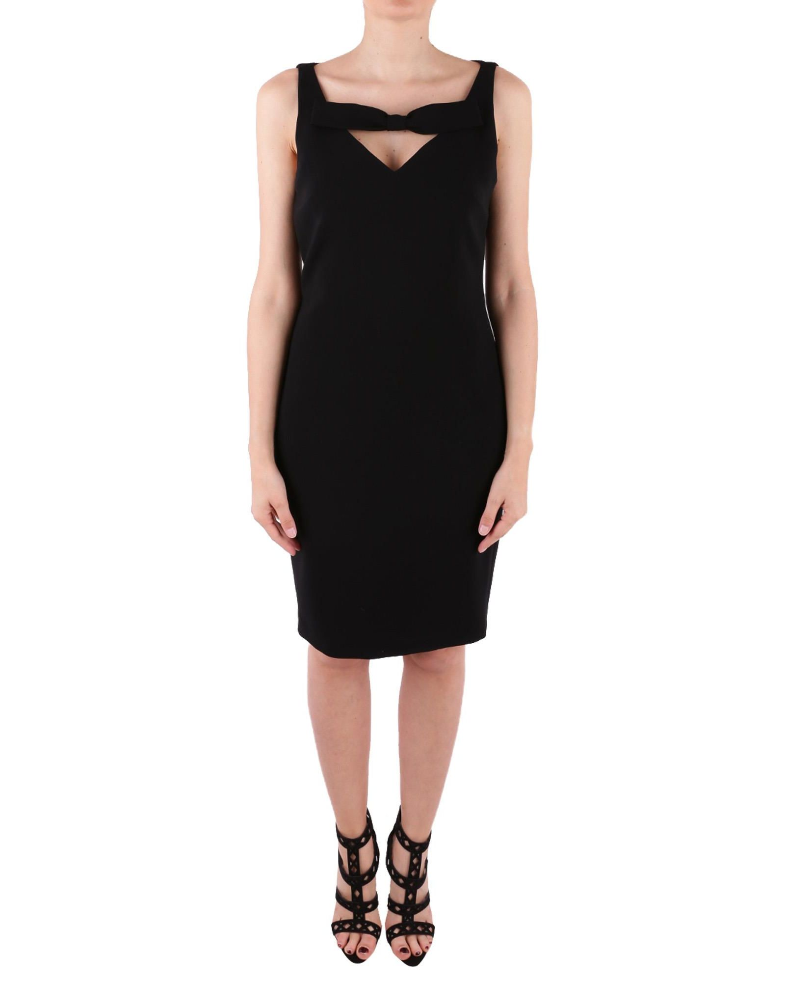 BOUTIQUE MOSCHINO CREPE BODYCON DRESS WITH BOW