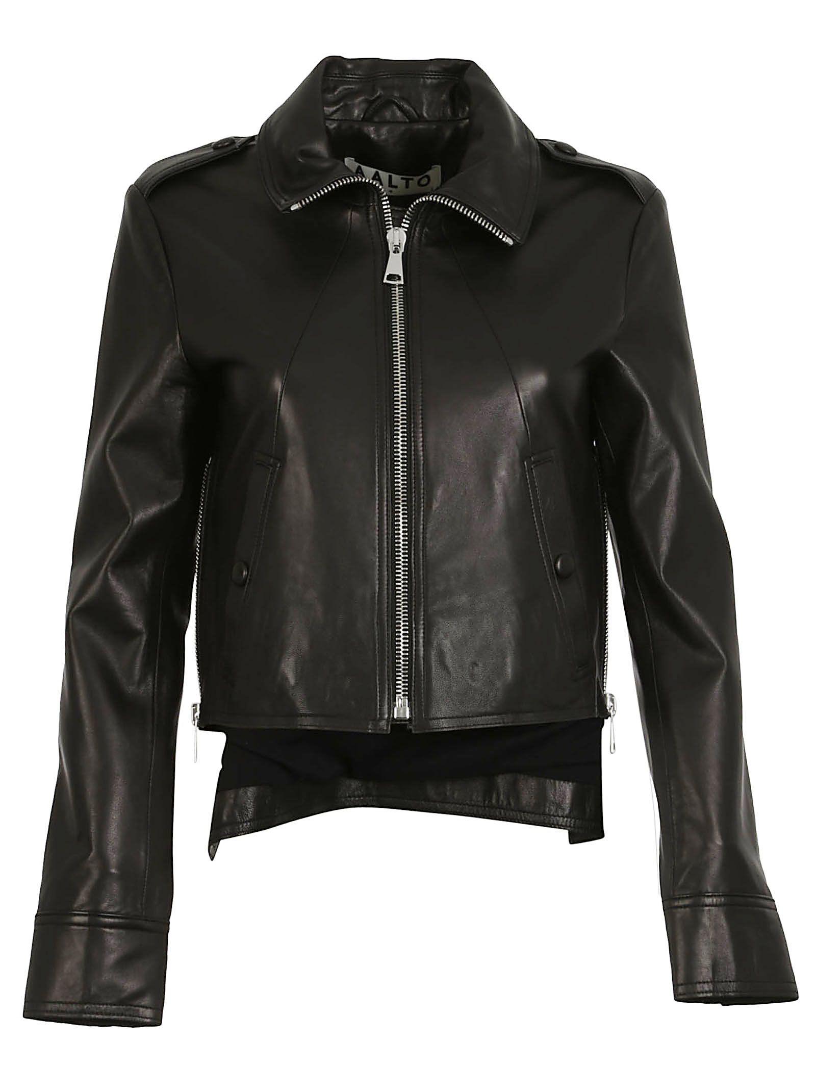 aalto female aalto leather biker jacket