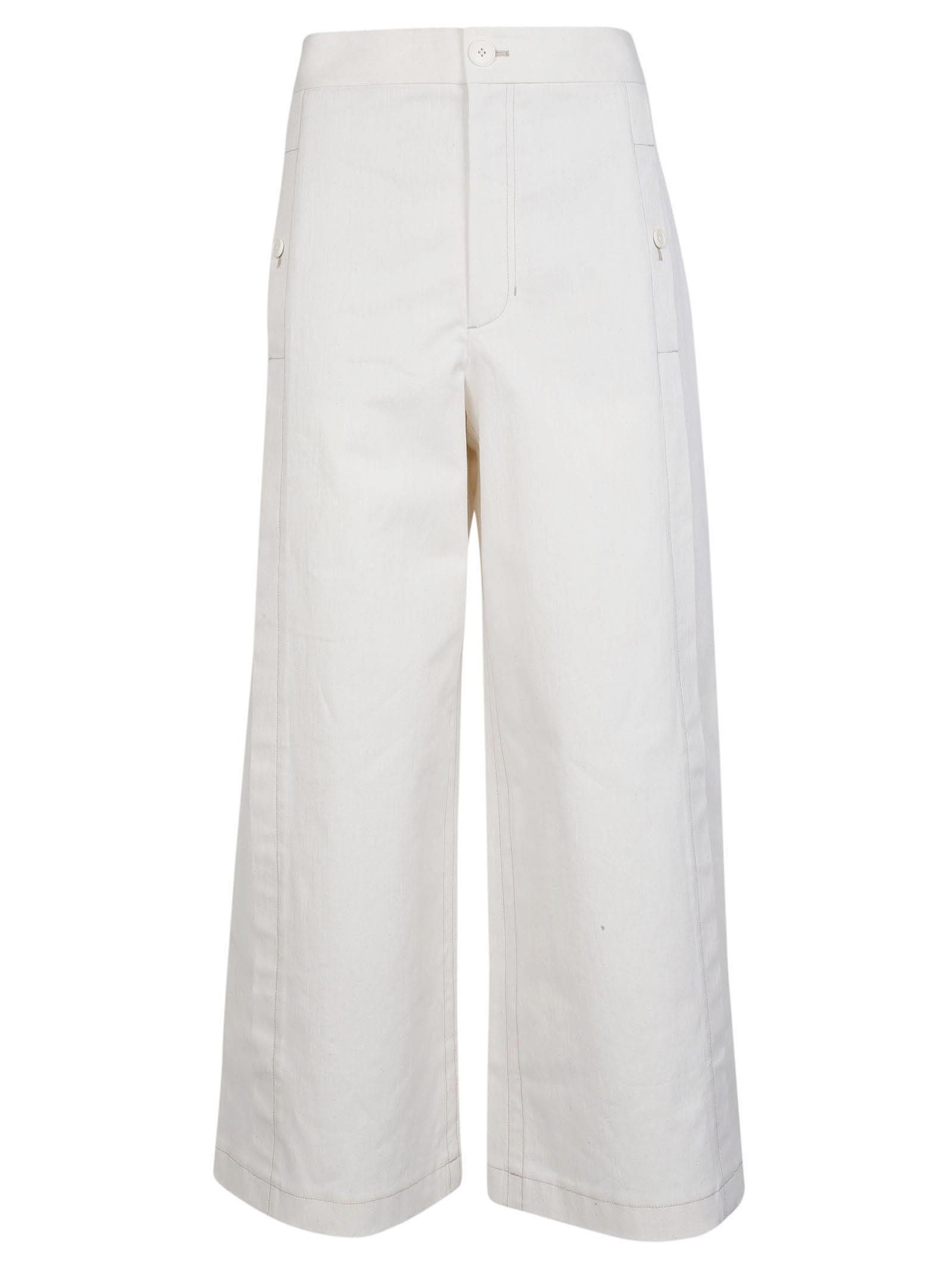 helmut lang -  Wide Leg Trousers
