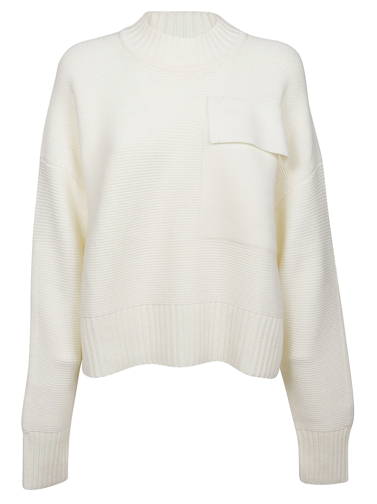 APPLIQUE RIBBED SWEATER