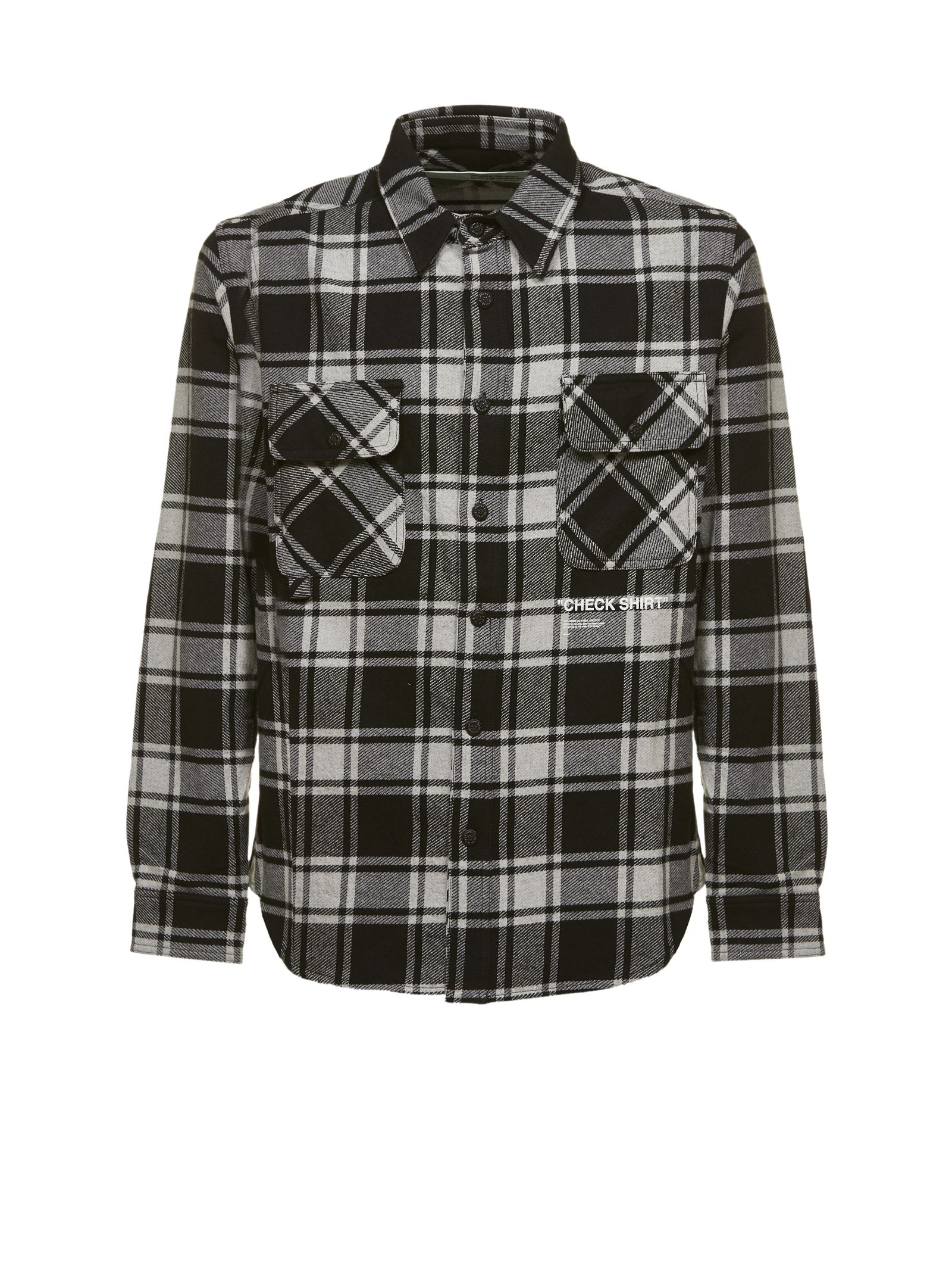 OFF-WHITE QUOTE FLANNEL SHIRT