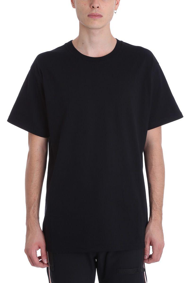 Represent ROCK BLACK COTTON T-SHIRT