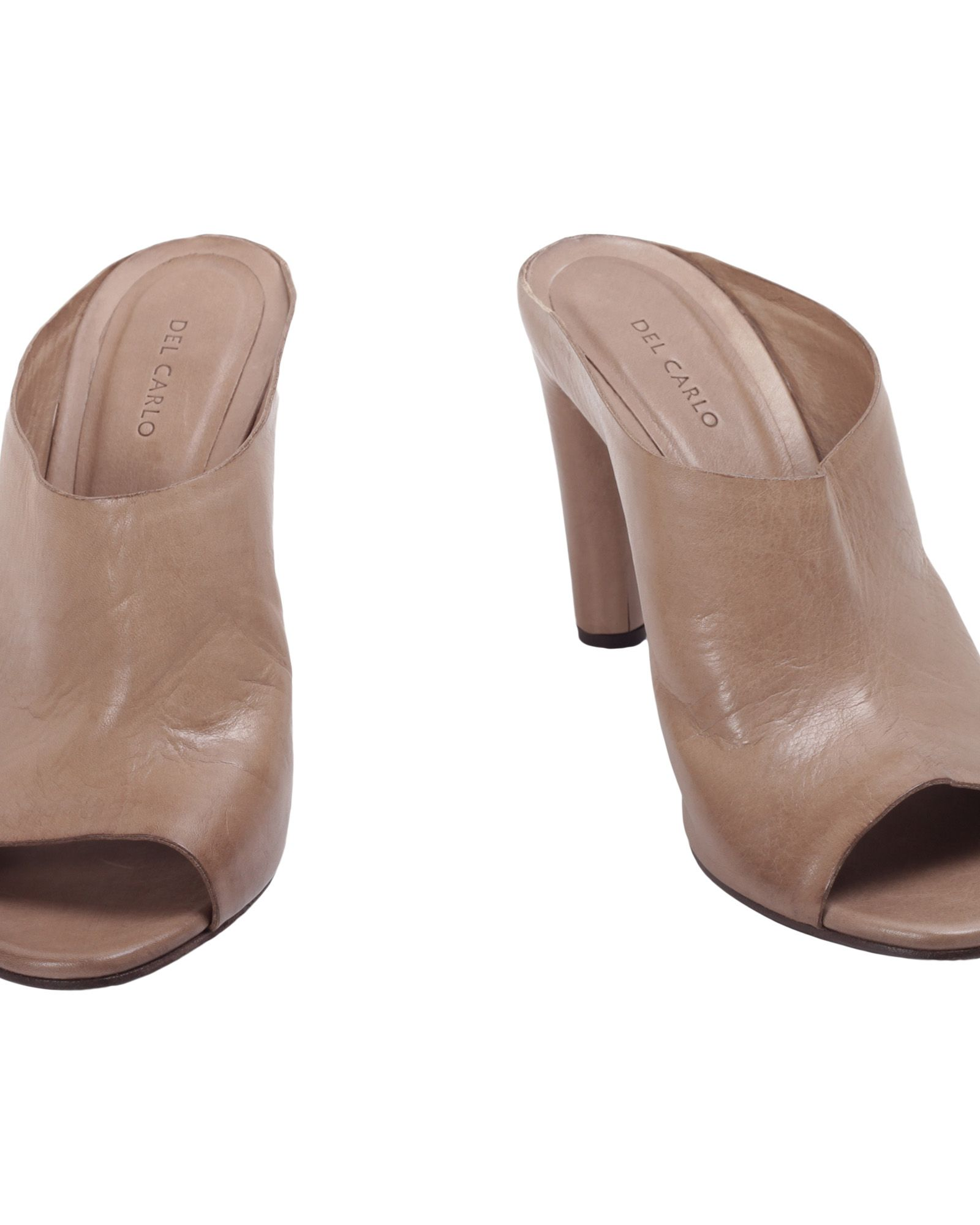 Clearance Buy Many Kinds Of Online ROBERTO DEL CARLO Leather Heeled Mules Pre Order Cheap Online t2UnofAR59