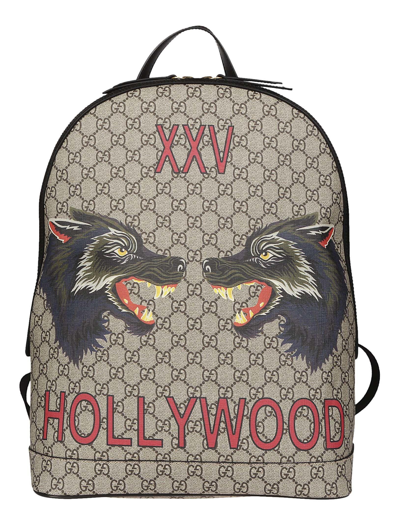 5c91b3e1c46b Gucci Wolf-Print Gg Supreme Backpack - Beige, Tan In Neutrals | ModeSens