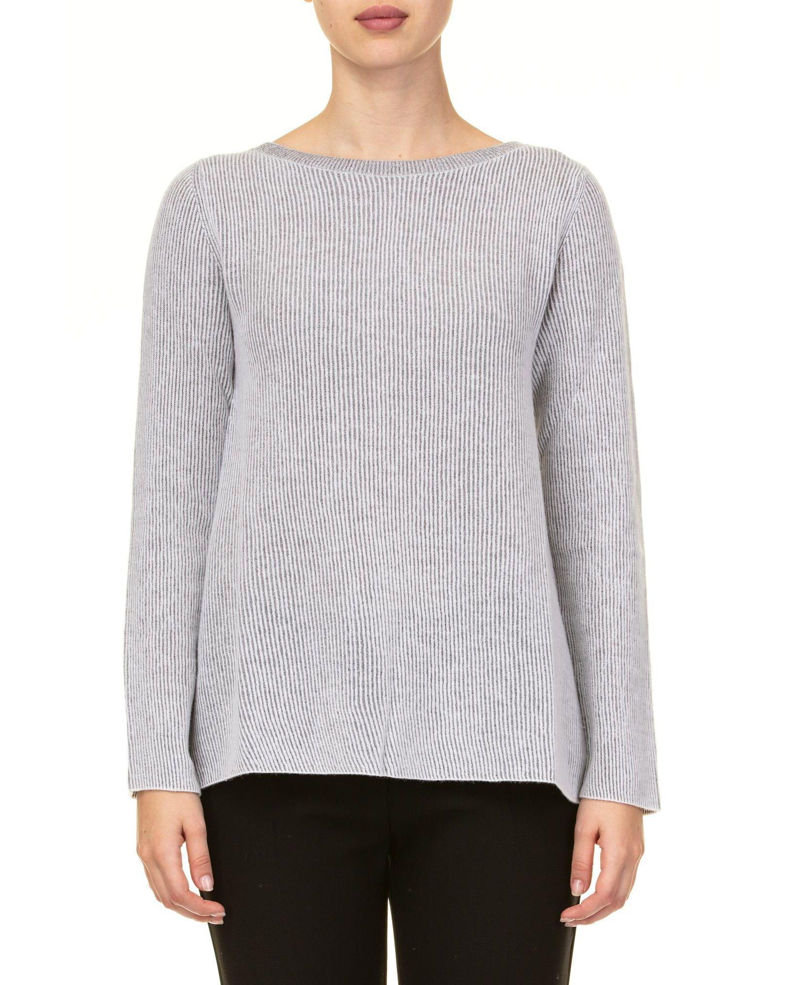KANGRA Alpaca Blend And Lurex Sweater in Pearl