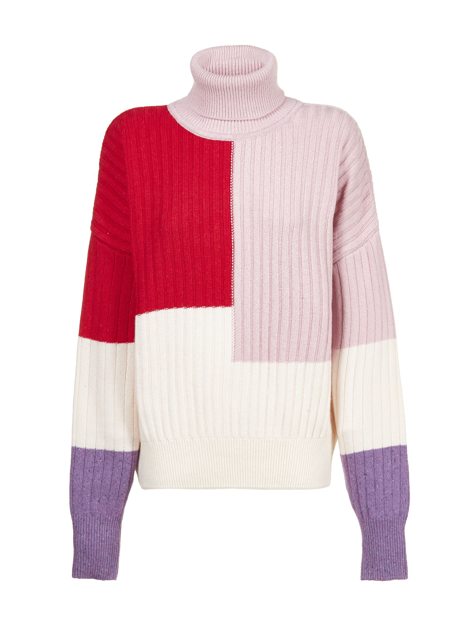 VALENTINE WITMEUR LAB Valentine Witmeur Ribbed Sweater in Panna Rosa Rosso