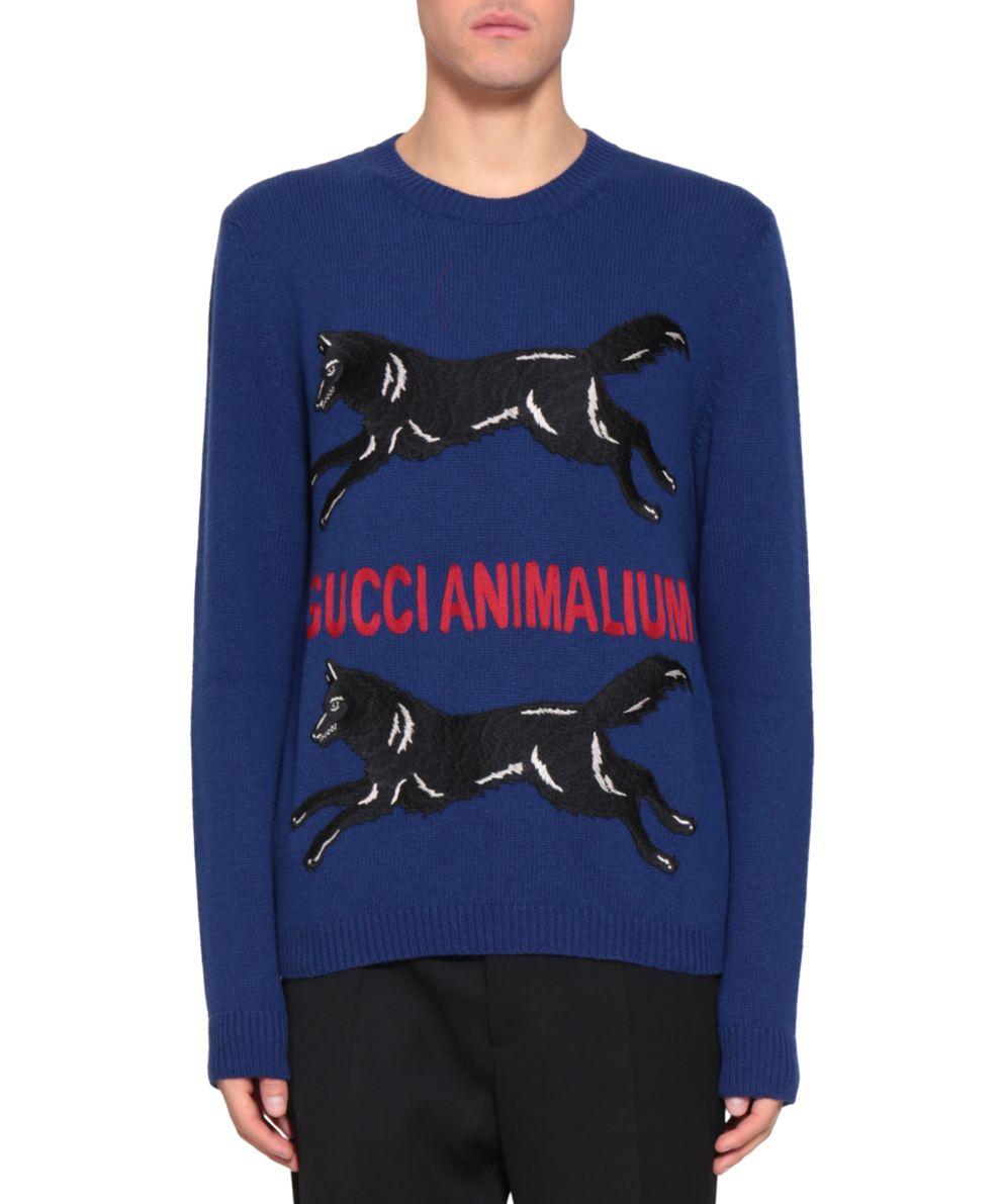 a0ba170c1a0 Gucci Animalium Wool Sweater