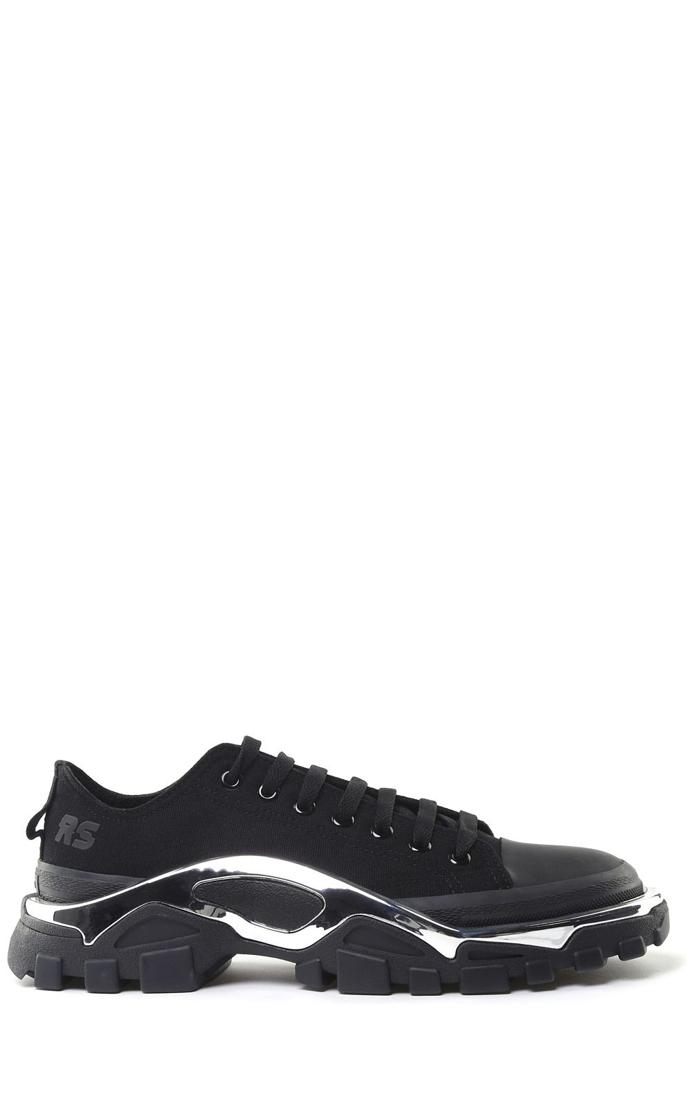 new arrival 47331 bdac0 Adidas By Raf Simons Rs Detroit Runner Canvas Sneakers In Nero