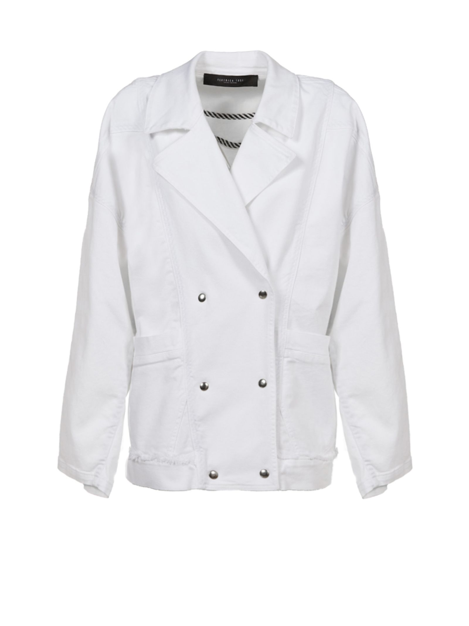 Federica Tosi Boxy Double Breasted Jacket ...