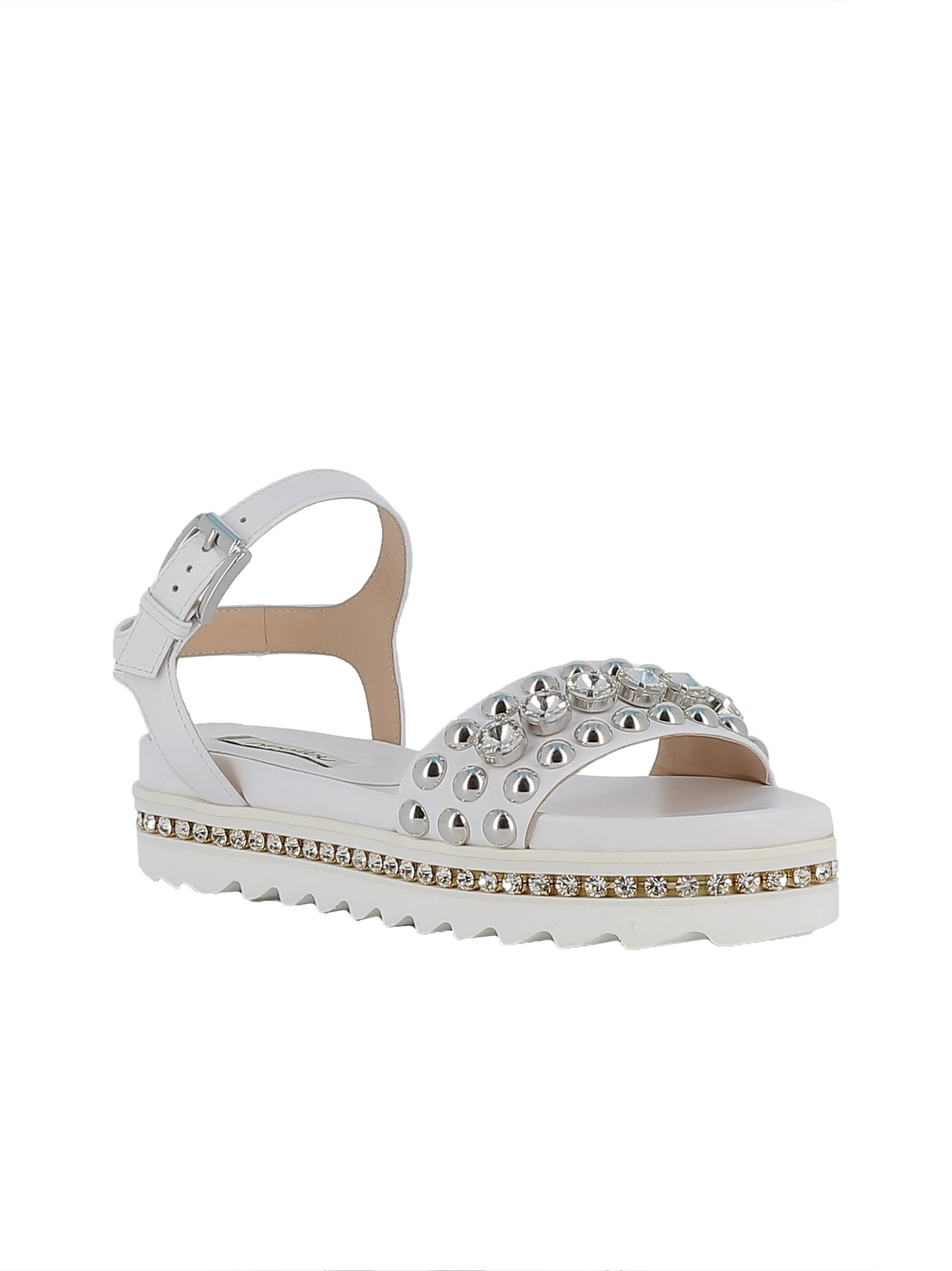 NINALILOU Leather Sandals Sale Huge Surprise Outlet How Much Wholesale Price Sale Online oo1A1w