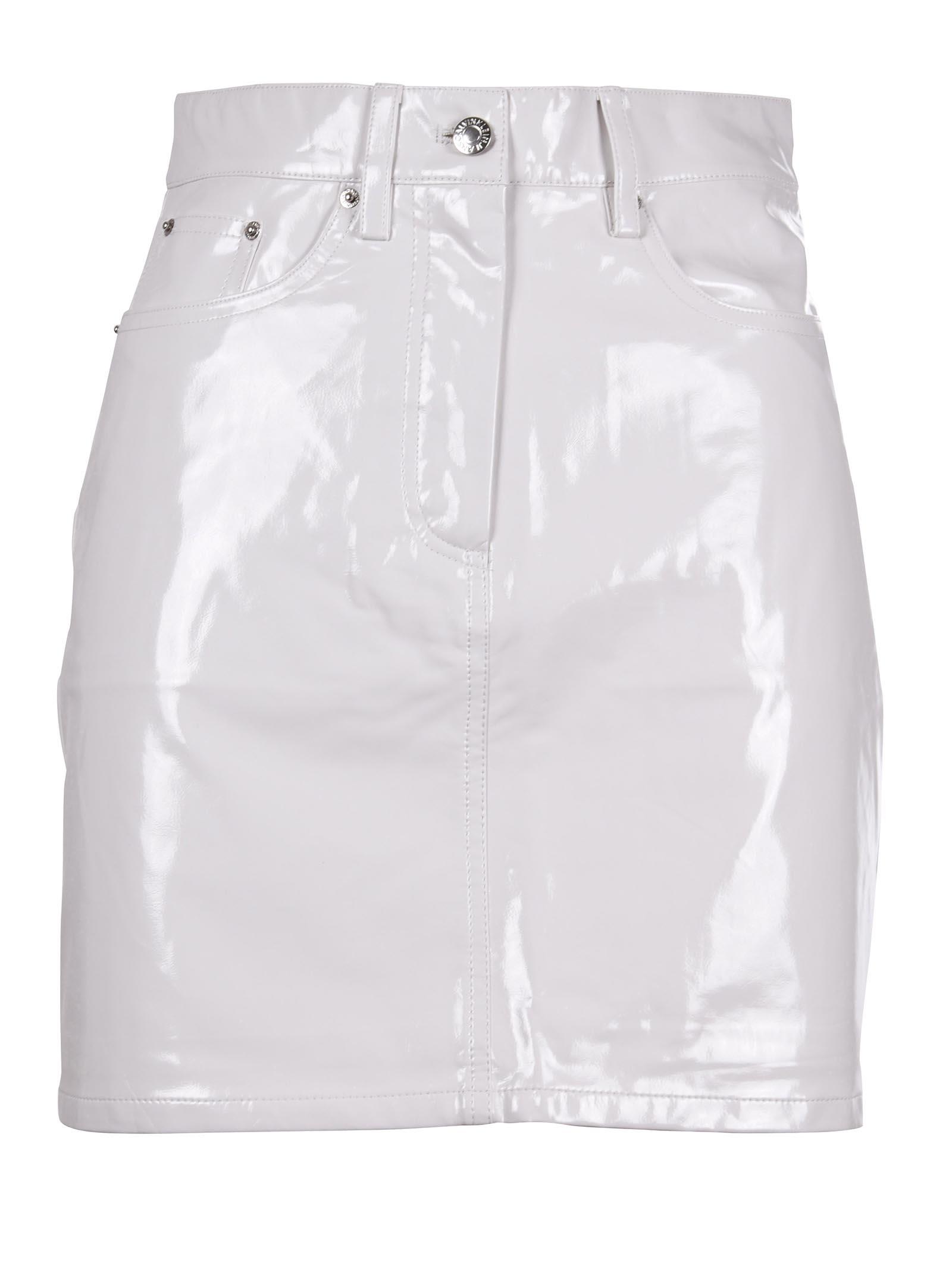 calvin klein jeans -  Vinyl High Rise Skirt