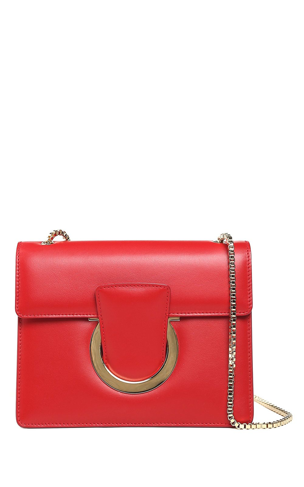 Salvatore Ferragamo Shoulder Bag for Women, Carrie, Lipstick Red, Leather, 2017, one size