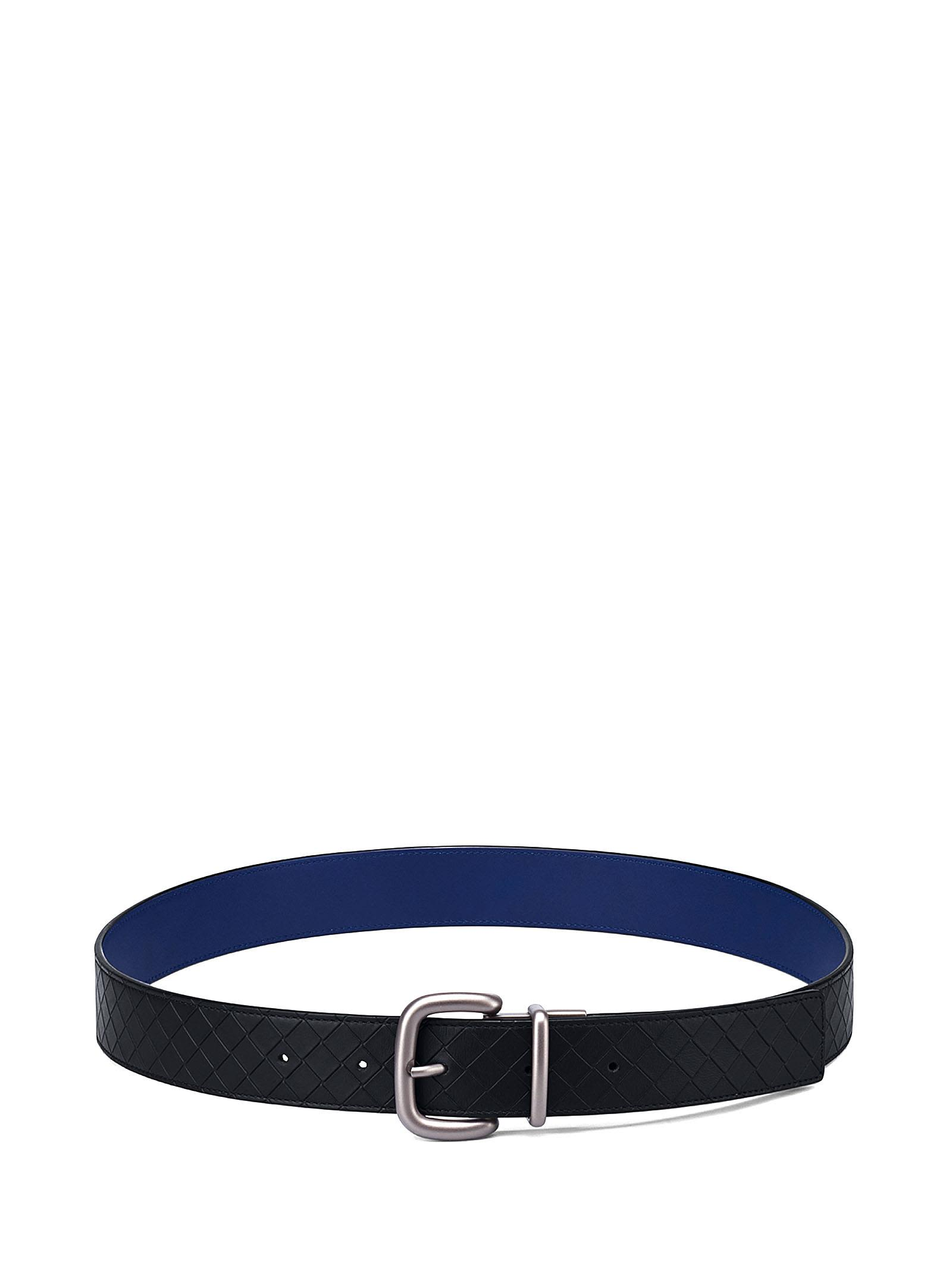 BOTTEGA VENETA NERO-ATLANTIC CALF BELT