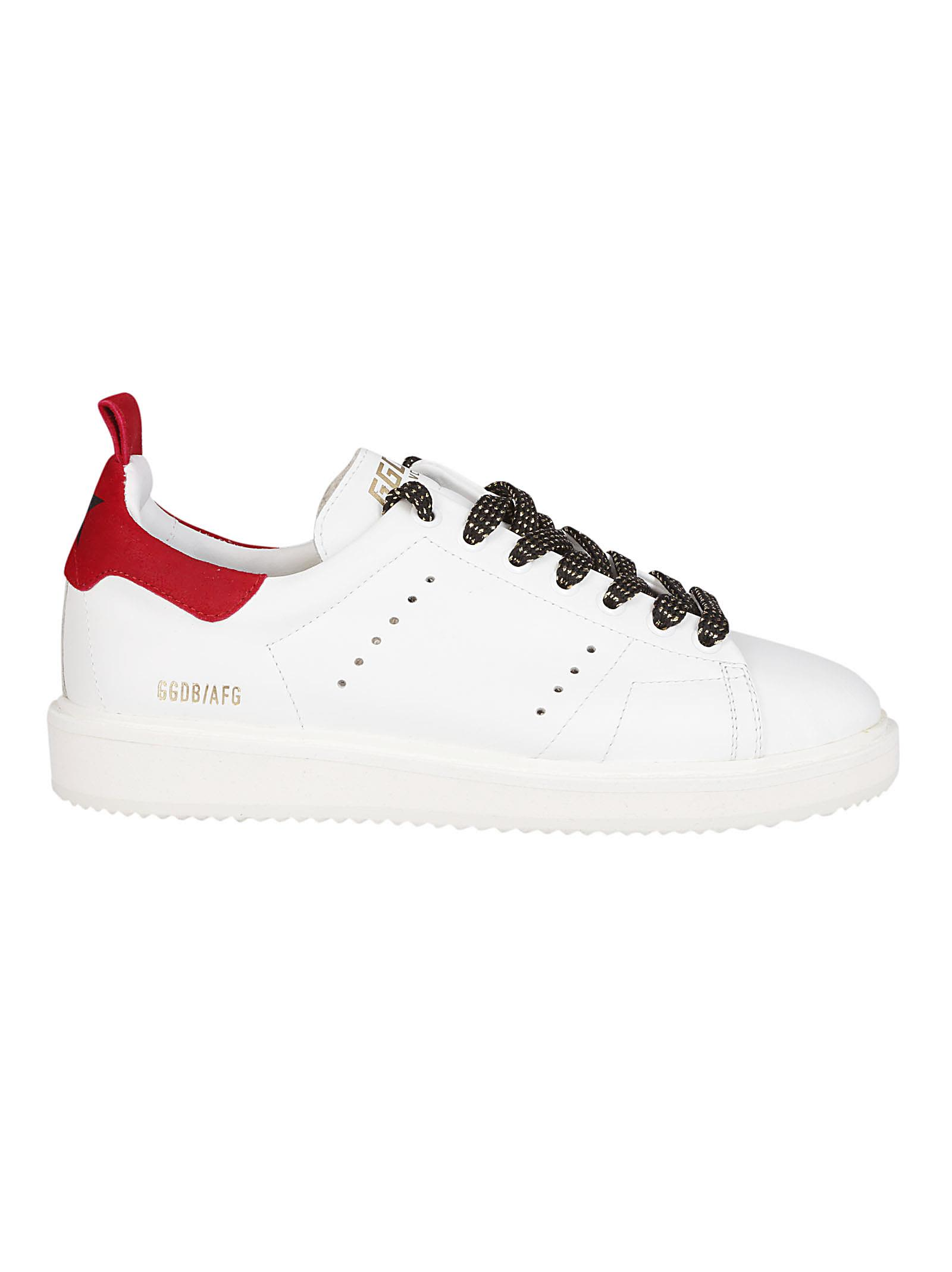 """Sneakers """"Starter"""" In White Leather, White Red"""