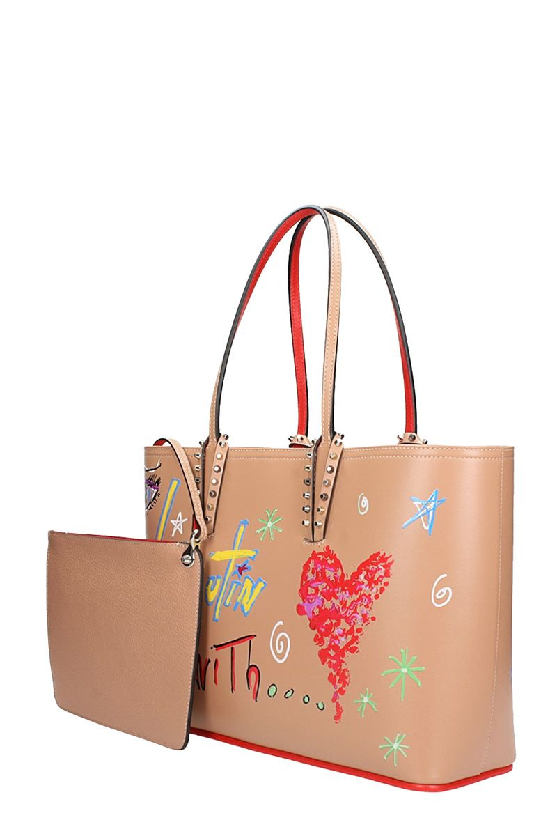 Cabata small beige loubitag bag Christian Louboutin Cheap Sale Pay With Paypal 5PKRRG