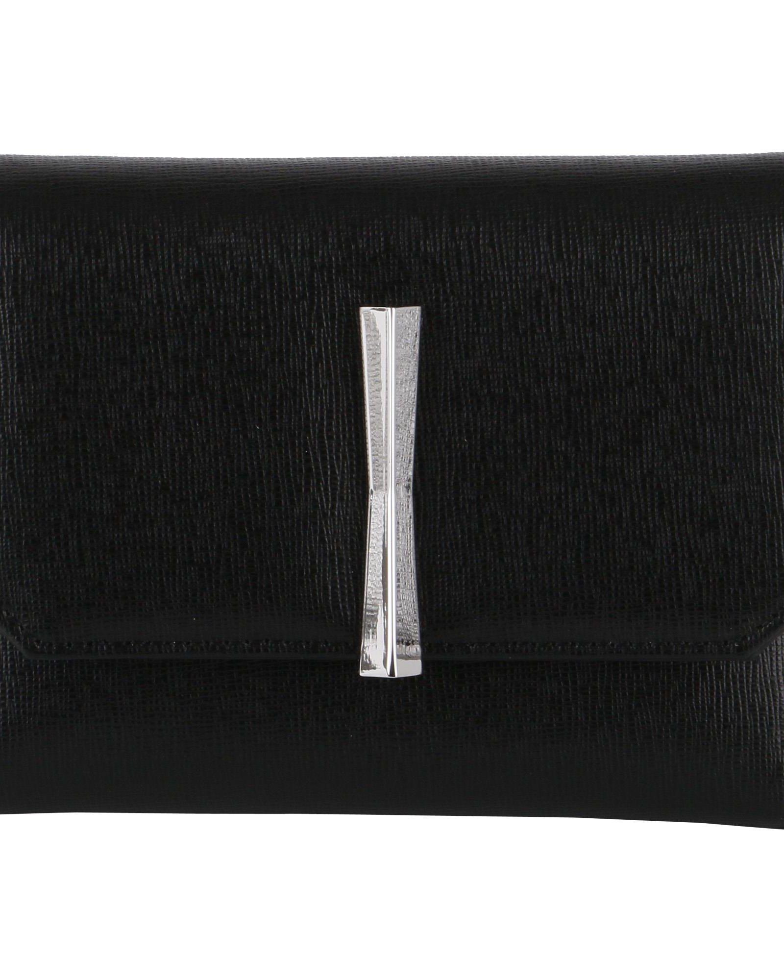 GIANNI CHIARINI Saffiano Leather Wallet in Black