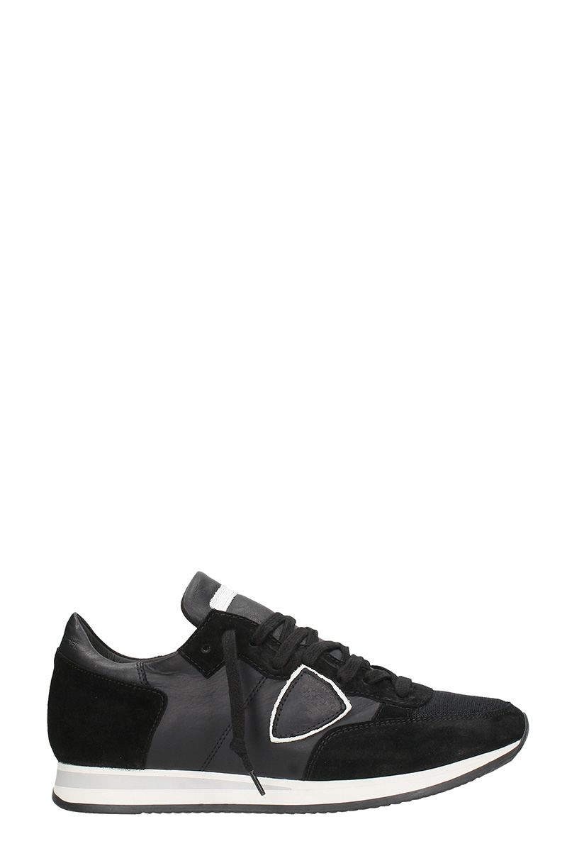 Philippe Model Black Suedee And Leather Tropez Sneakers