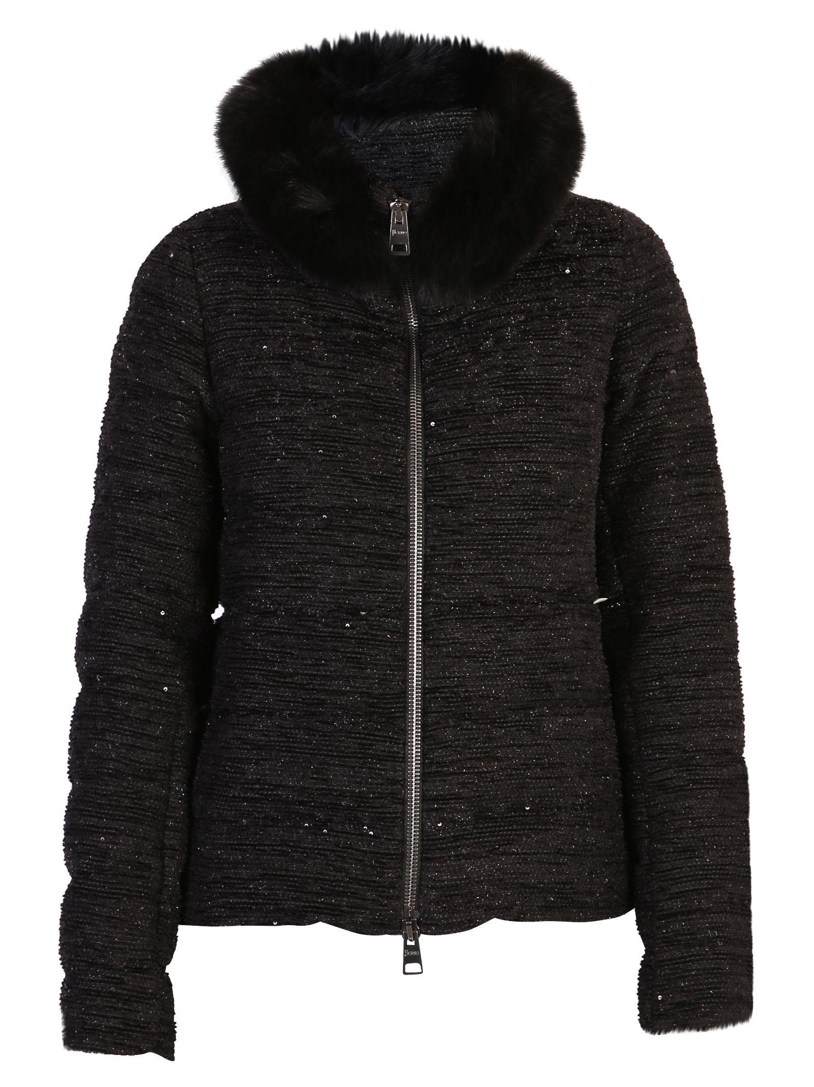 Black Lurex Padded Jacket