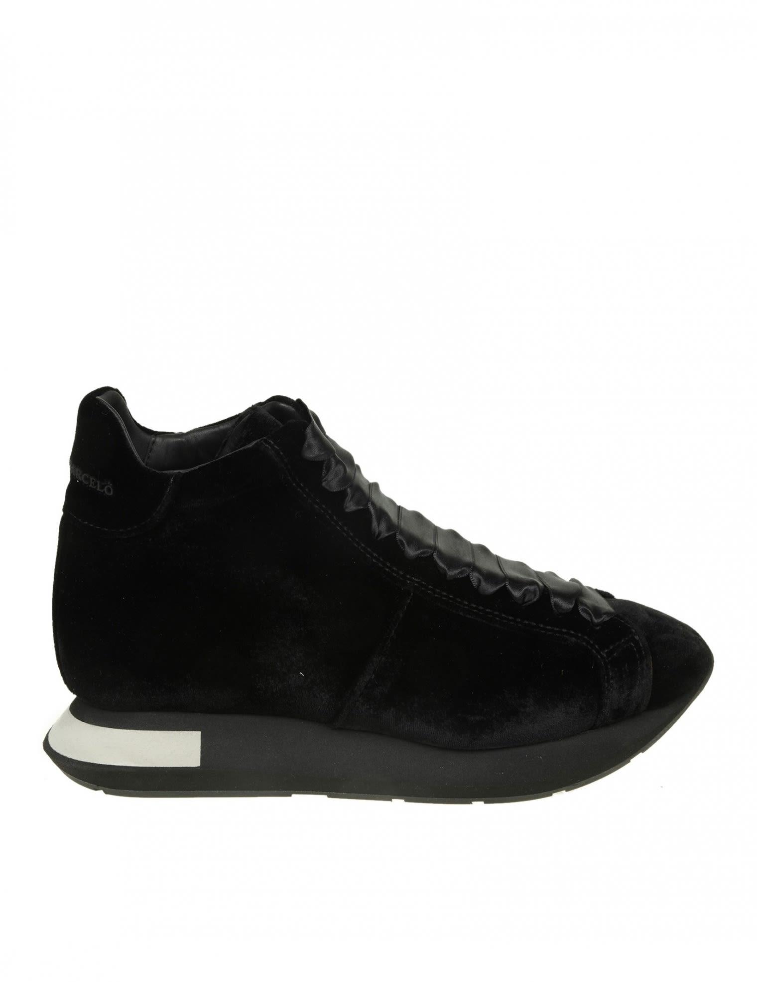 Manuel Barcelo' Ankle Boot In Velvet Color Black