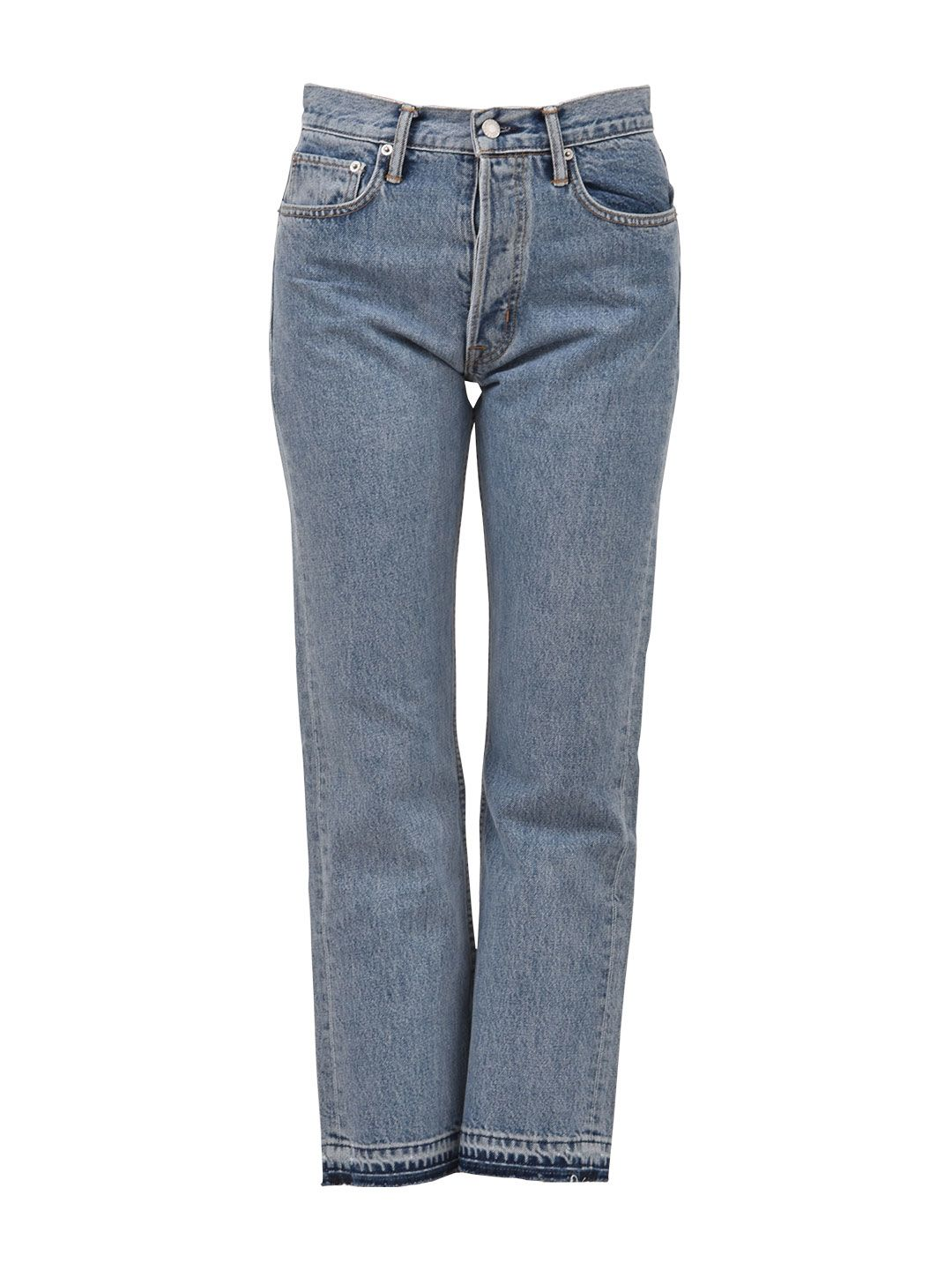 FRAYED CROPPED JEAN