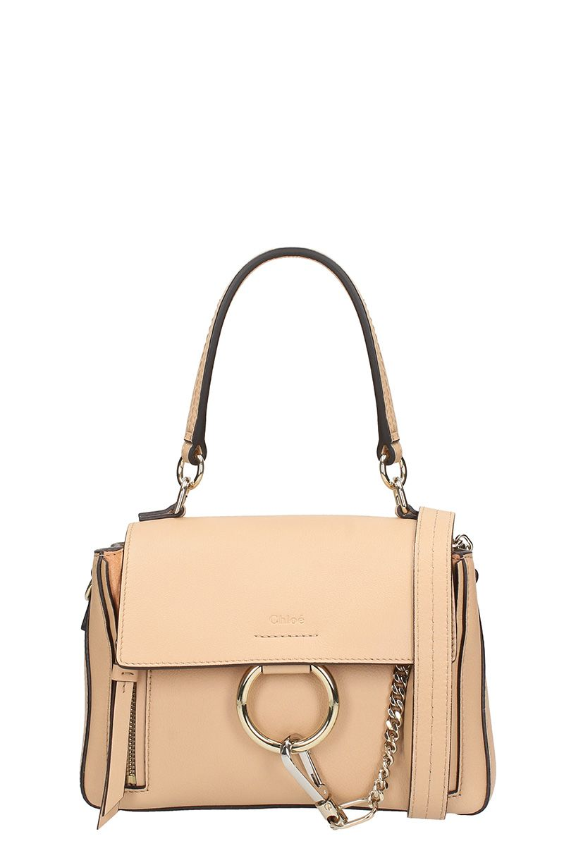 CHLOÉ FAYE DAY SMALL PINK LEATHER SHOULDER BAG
